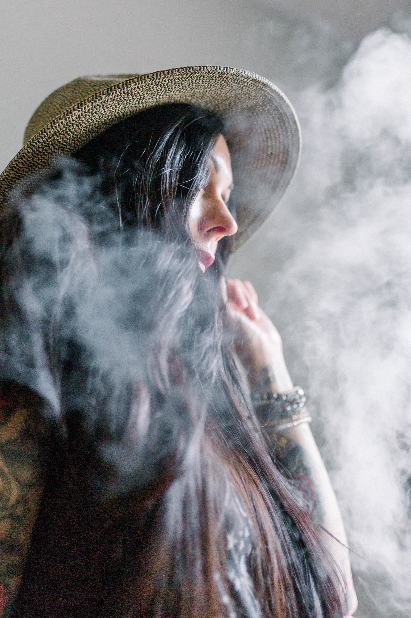 Smokey and artistic shot captured by Staci Addison Photography