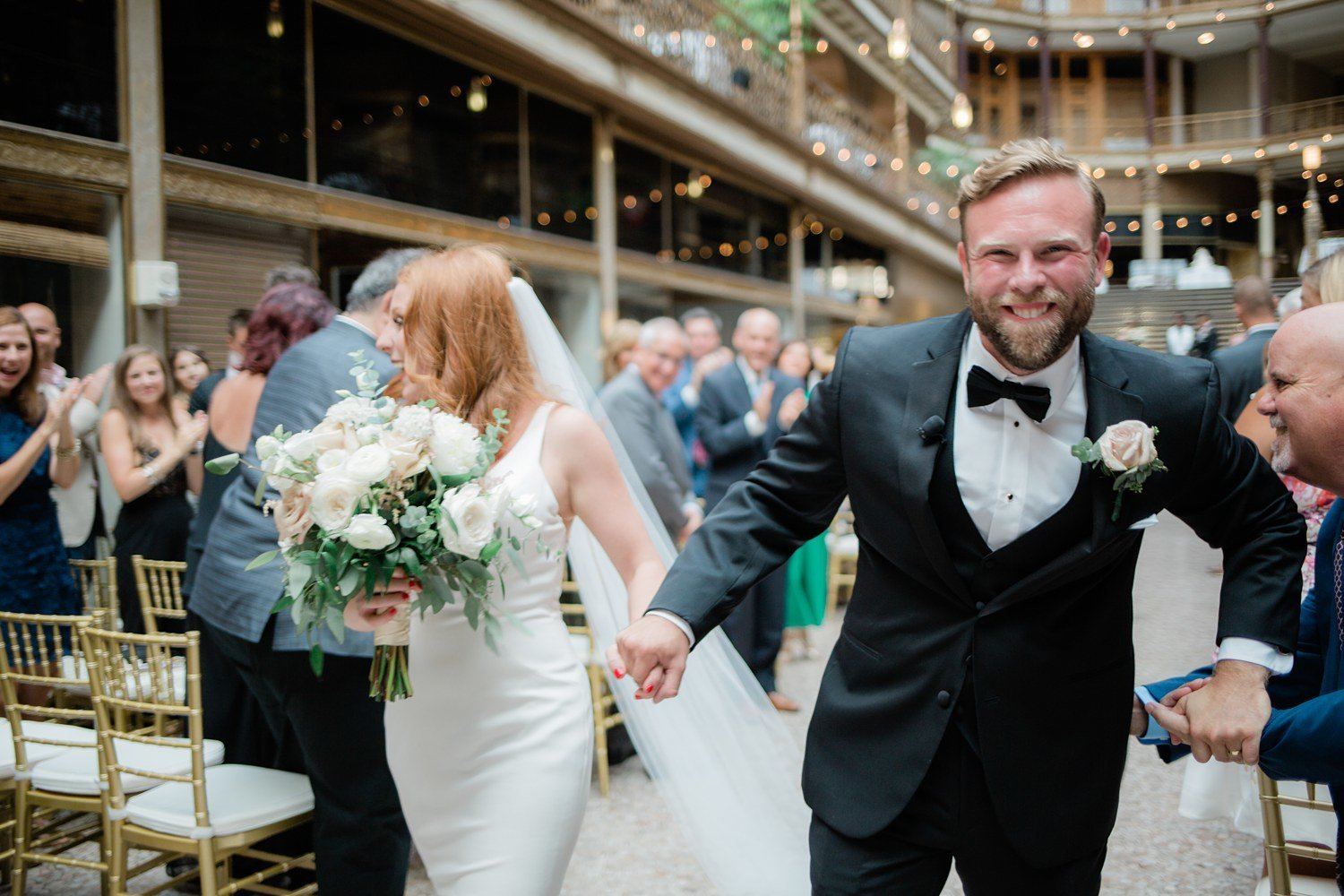 Hyatt Arcade Cleveland Candid Wedding Marissa Decker Photography