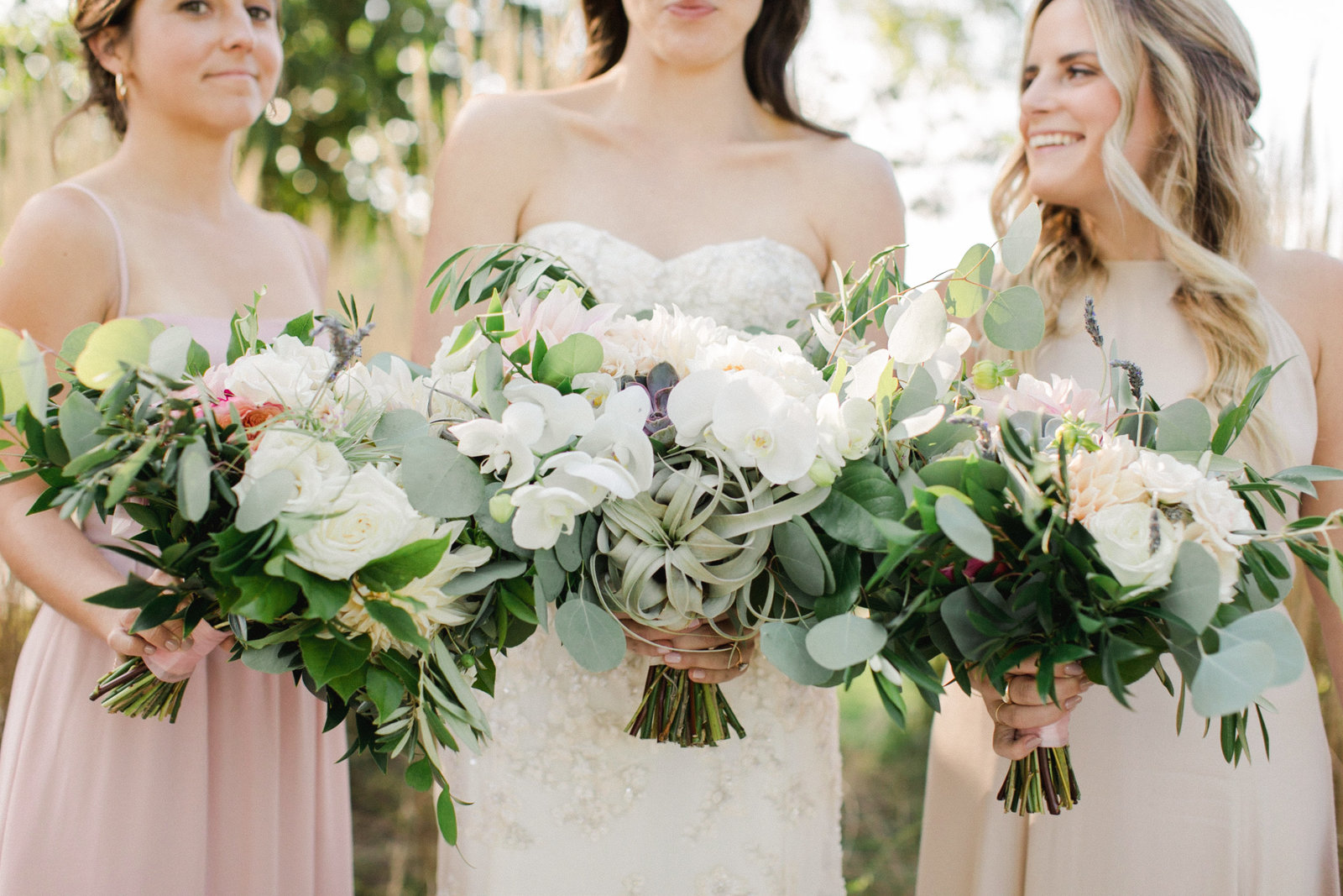 Saltwater Farm Vineyard Wedding_Blush Bridesmaids 5