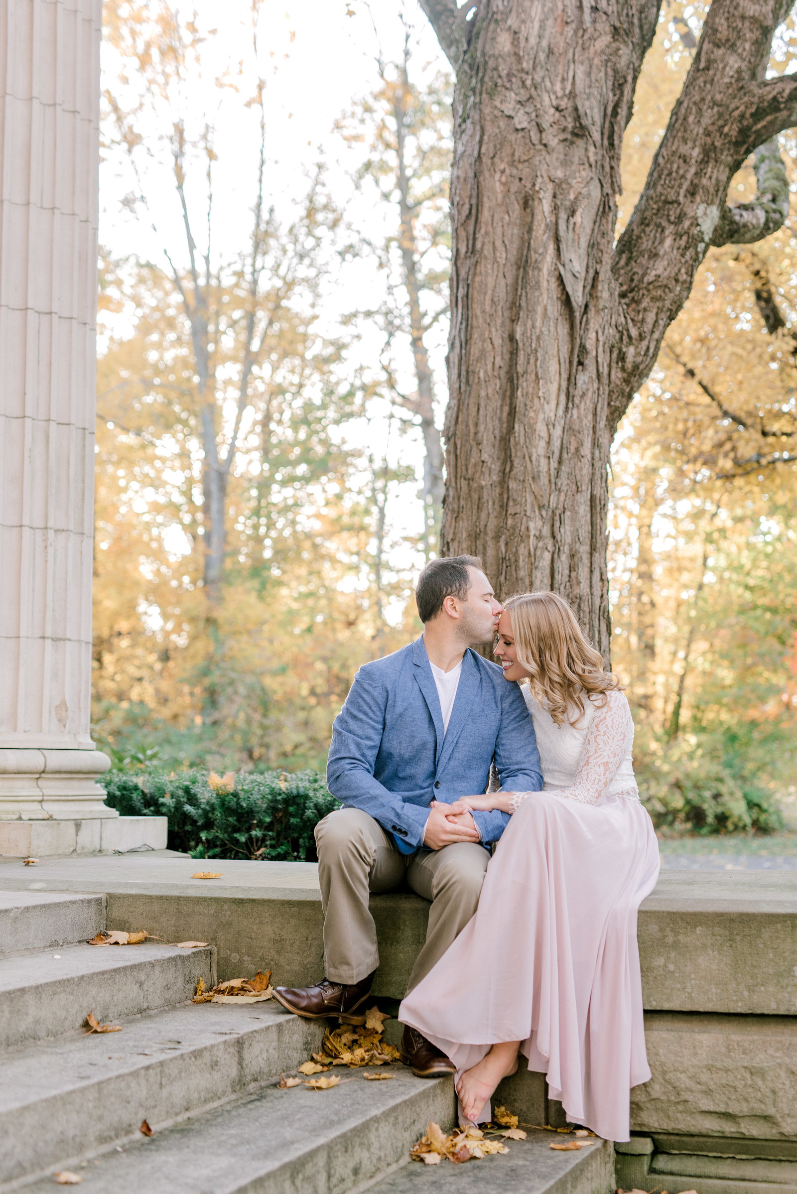Chautauqua  NY Engagement Session in the fall