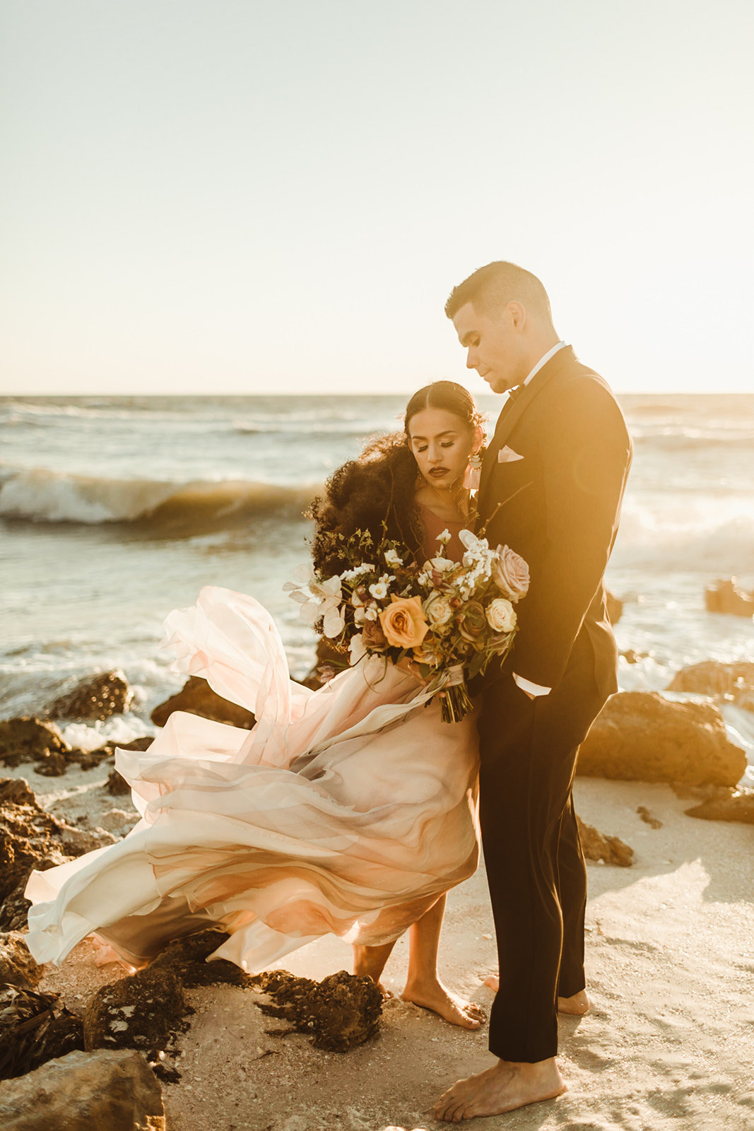 Celestial wedding inspiration_ beach elopement style-122