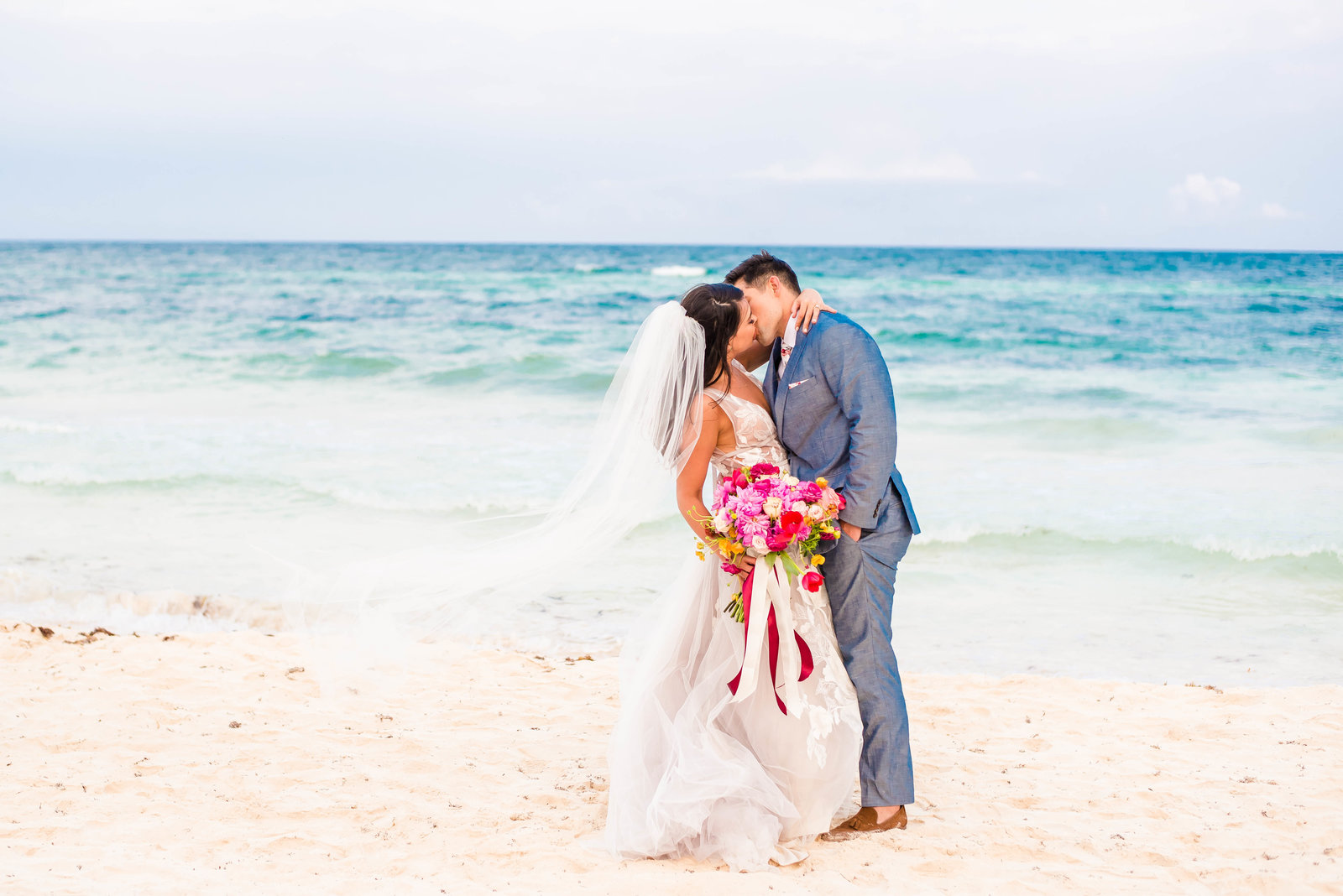 Bright and Colorful Tulum Wedding Photographer