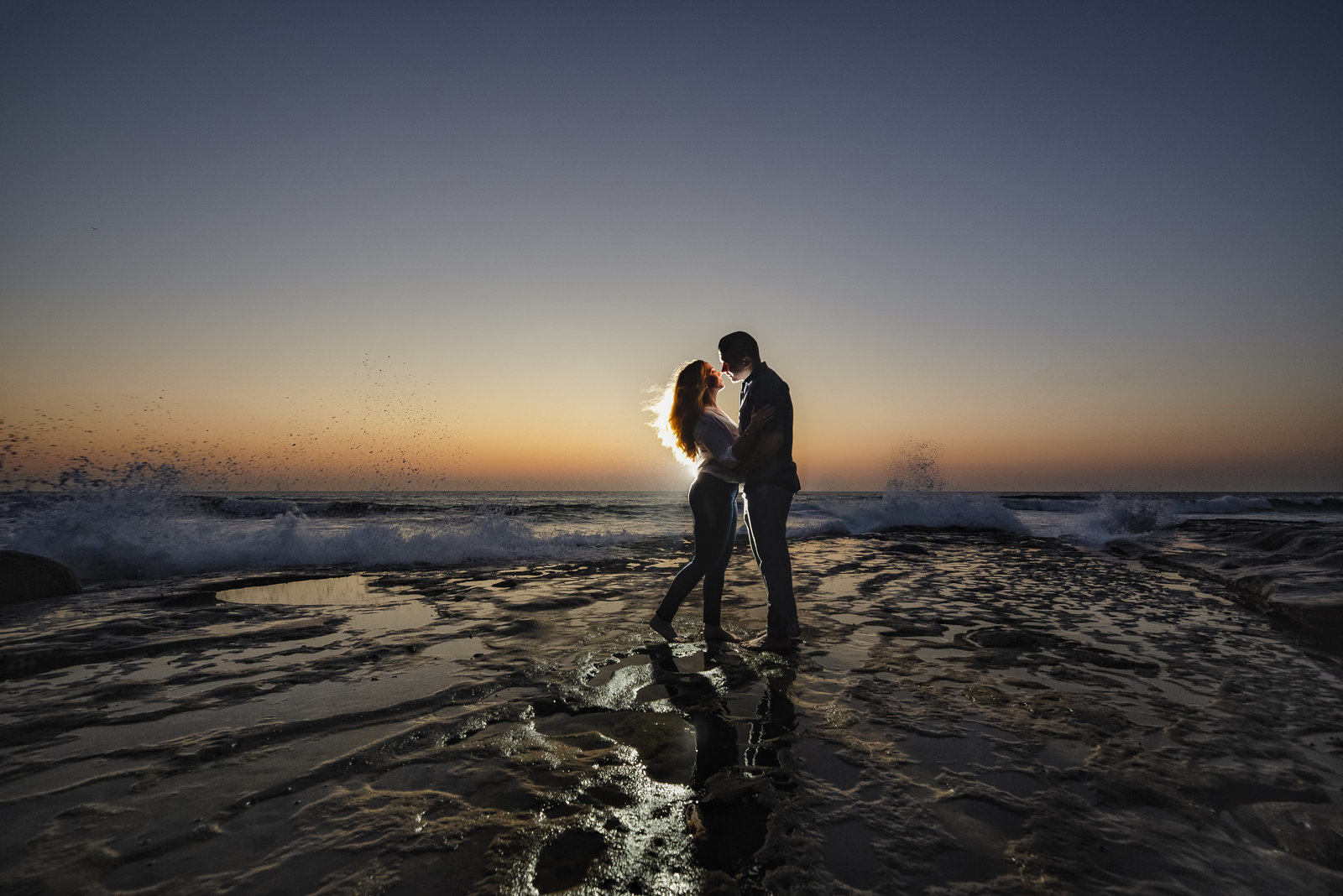 Sunset cliffs san diego beach engagement