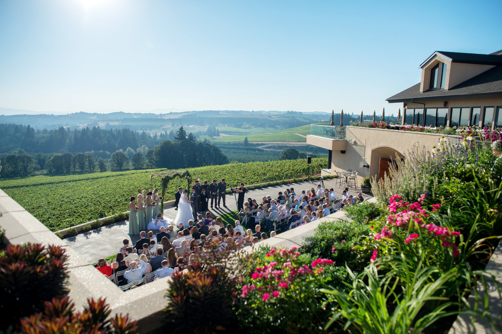 willamette valley vineyards ceremony from above