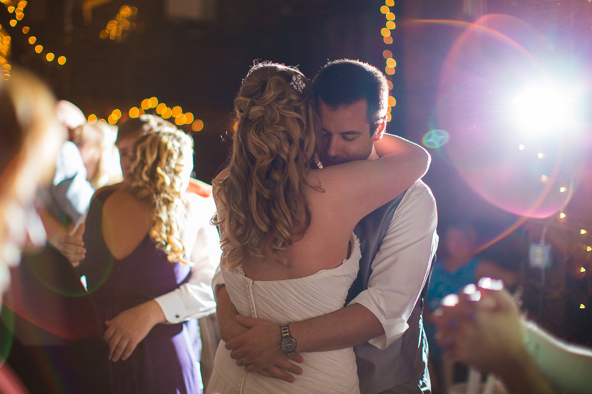 a couple dancing at their wedding at ostertag vistas in maryland