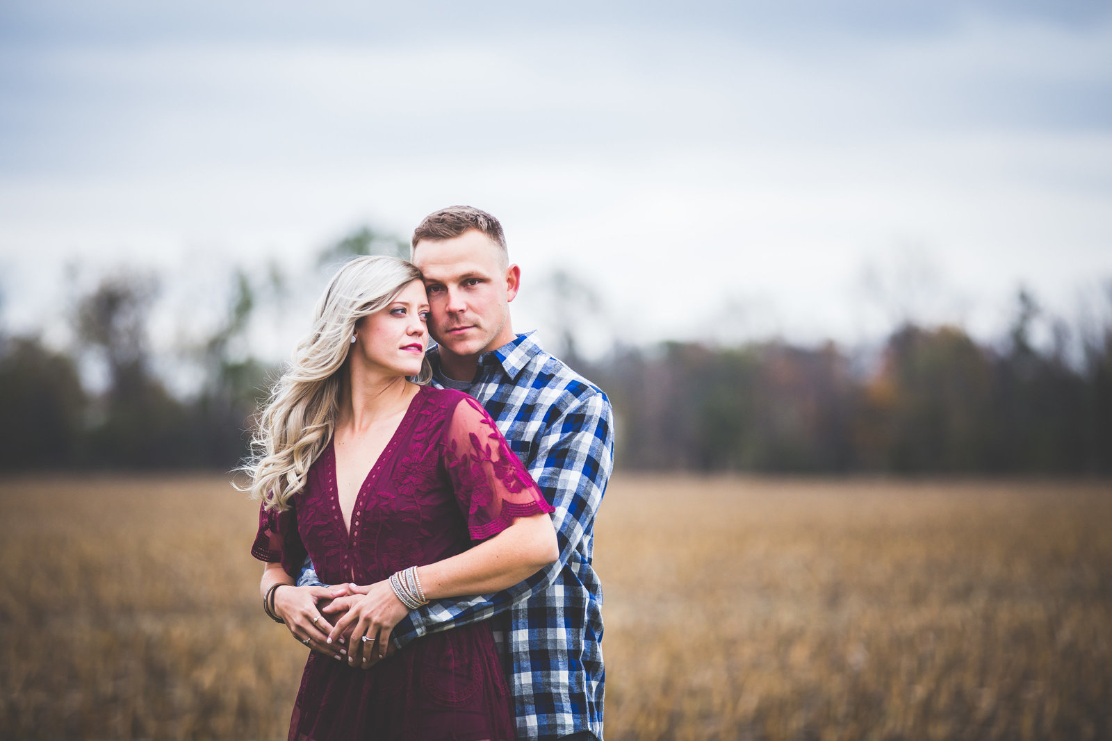 Ionia Michigan engagement session on Tubergen Farms