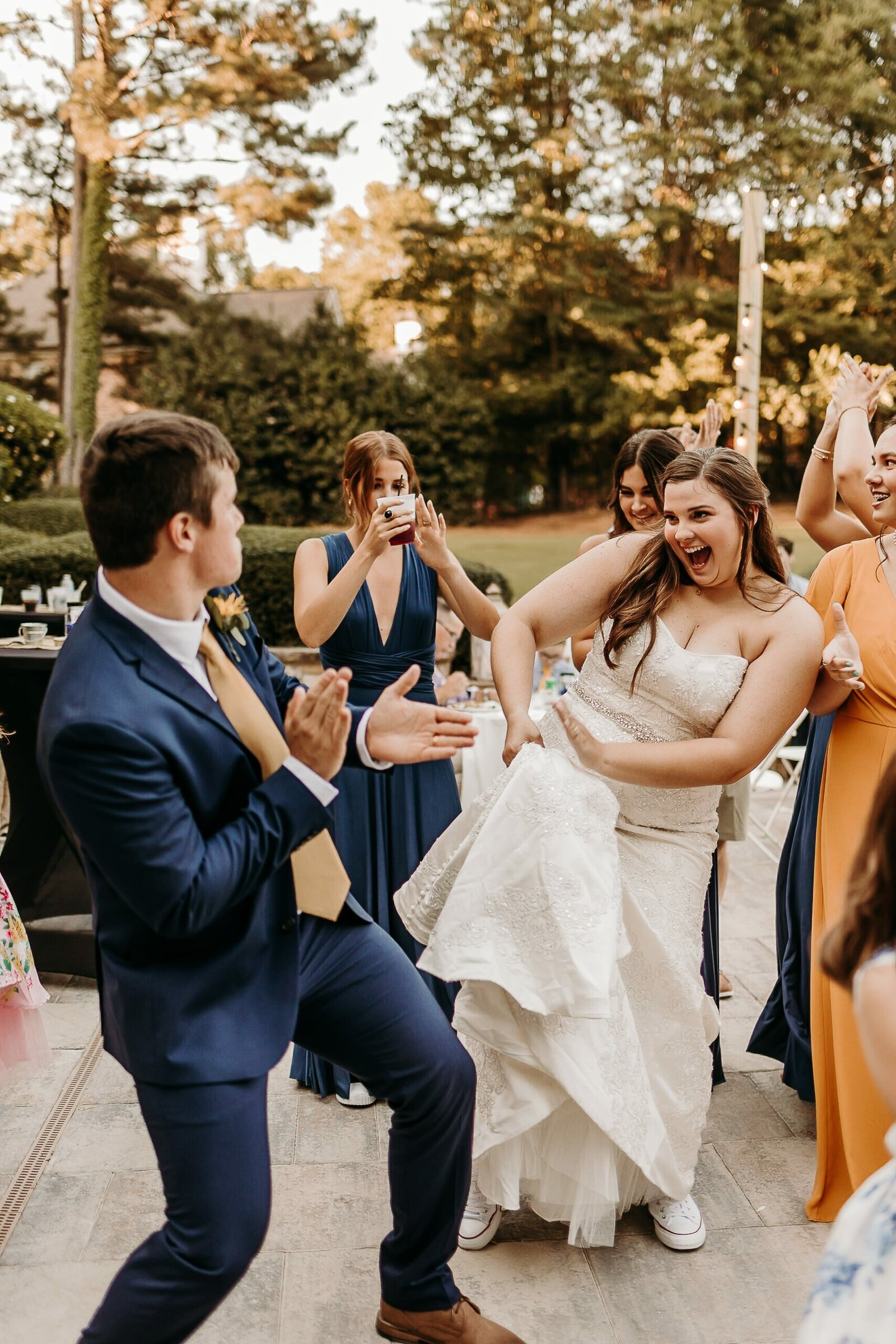 J.Michelle Photography photographs bride and groom dancing portrait