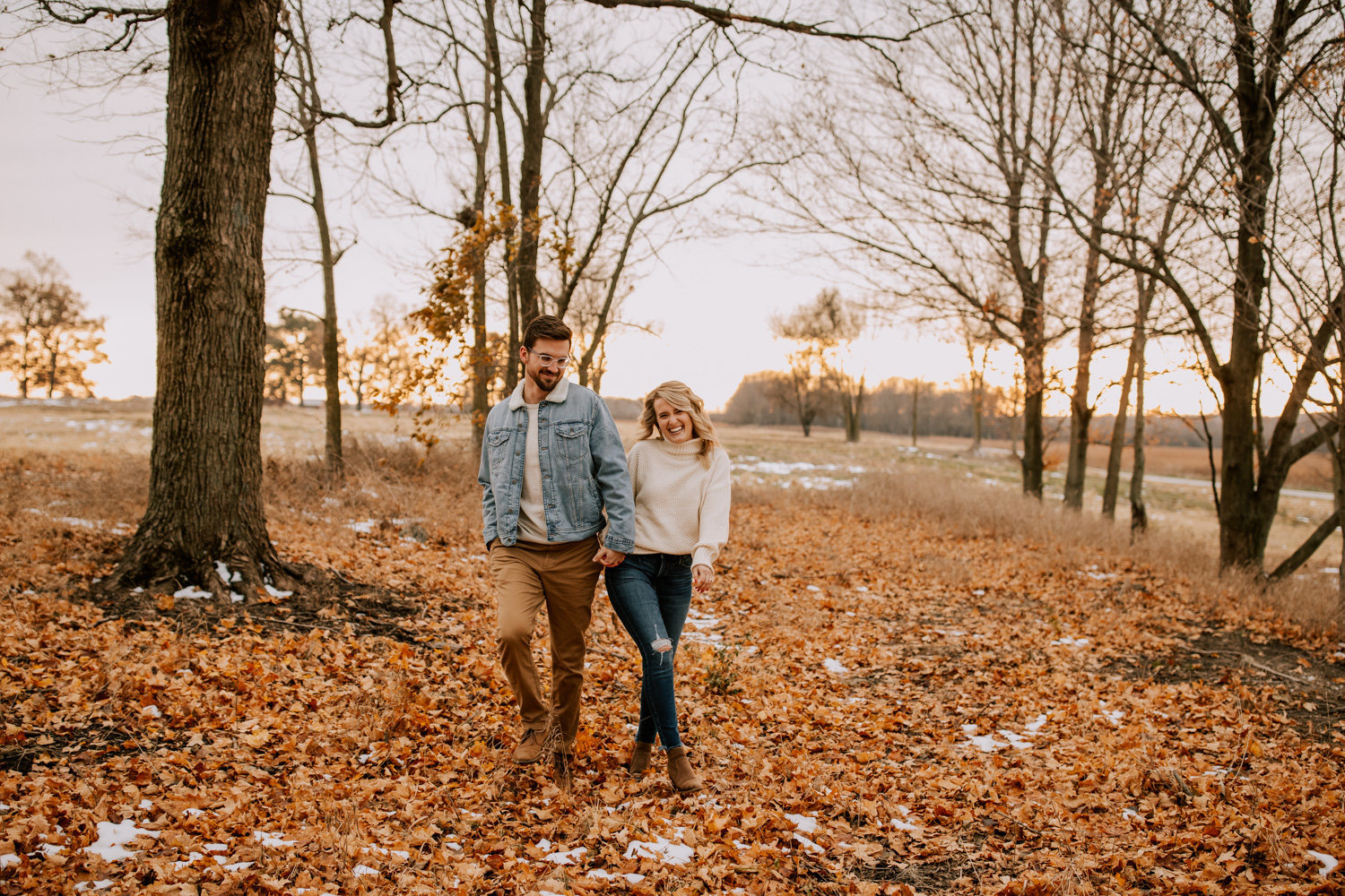 Fun-fall-engagement-session-prophetstown-state-park-35