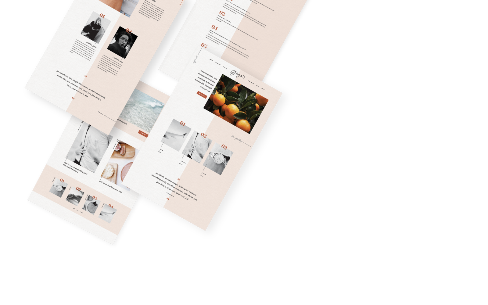 16 unique and easy-to-edit website templates.