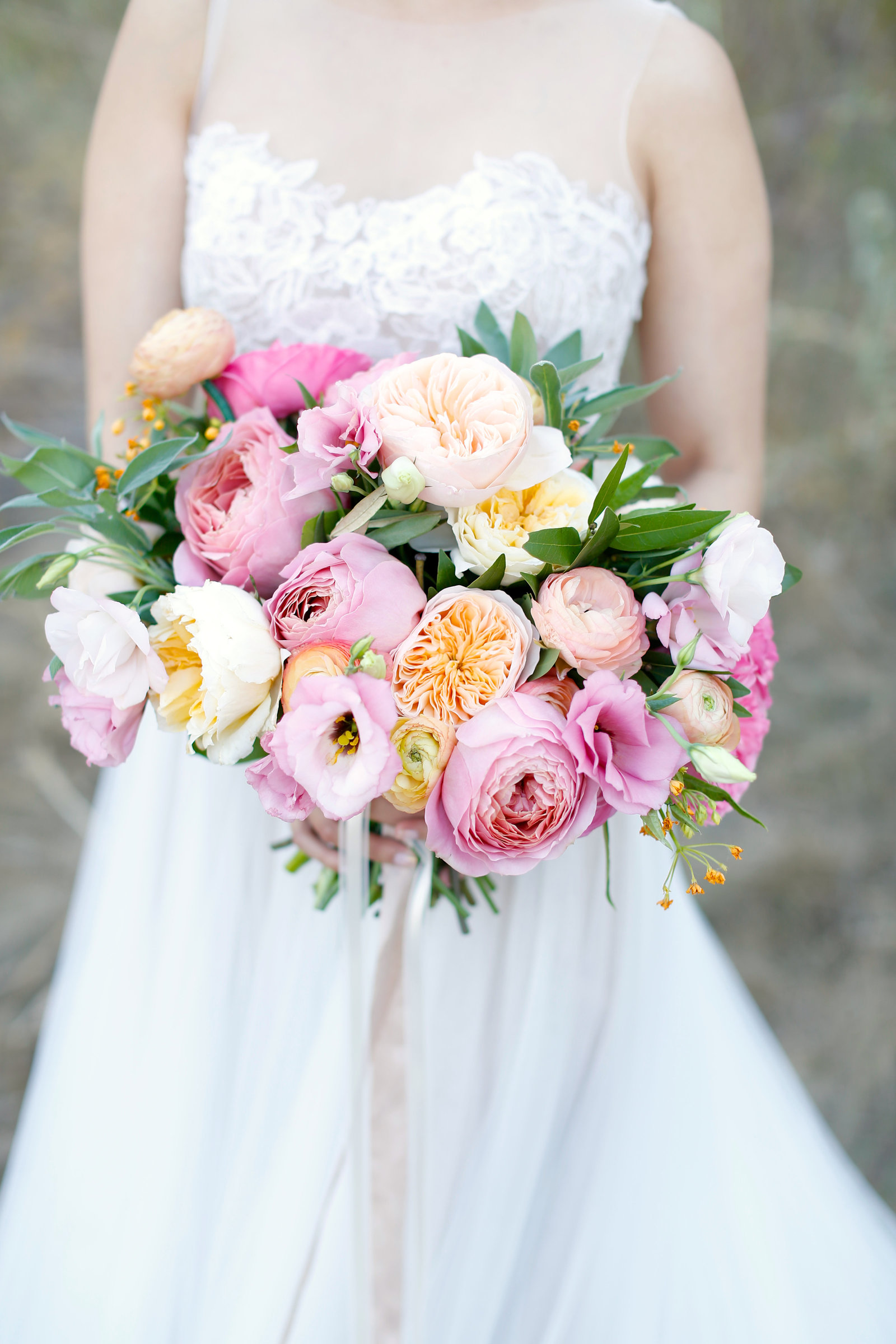 lush and colorful bridal bouquet from everly alaine florals