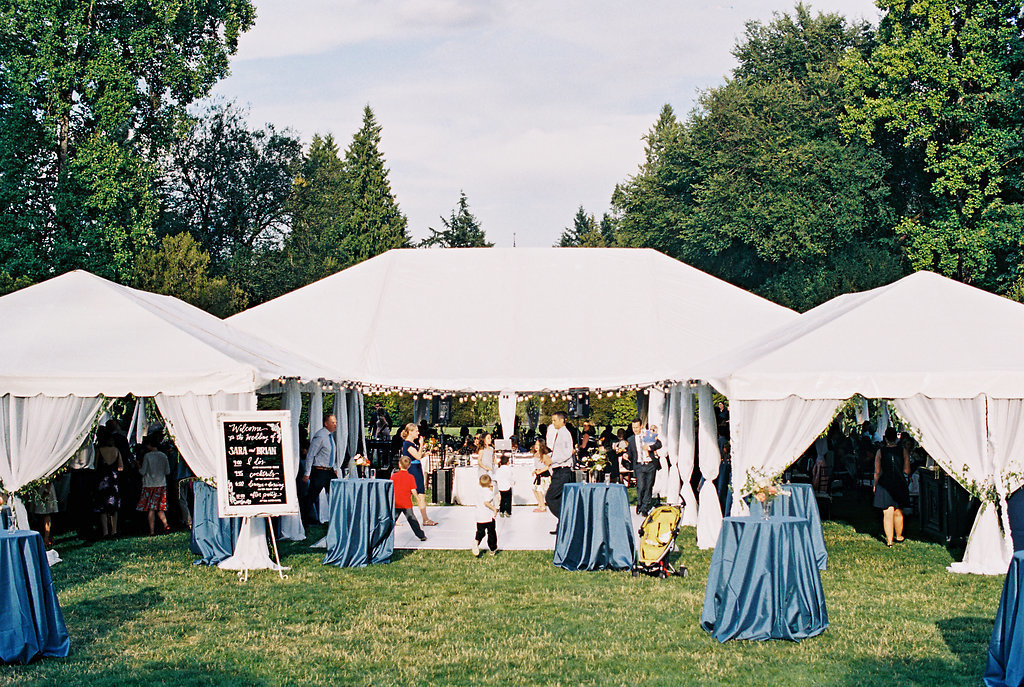 Outdoor wedding at Lewis and Clark's Estate Gardens