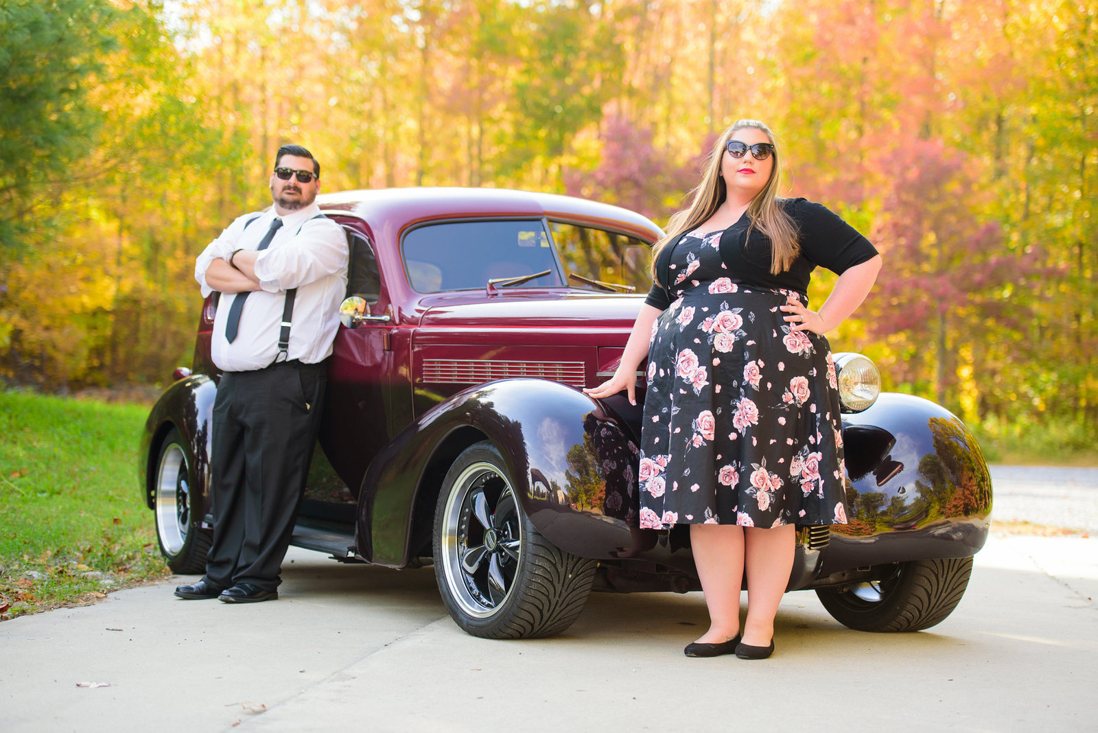 Retro_Pinup_Car_engagement_session_Nj007
