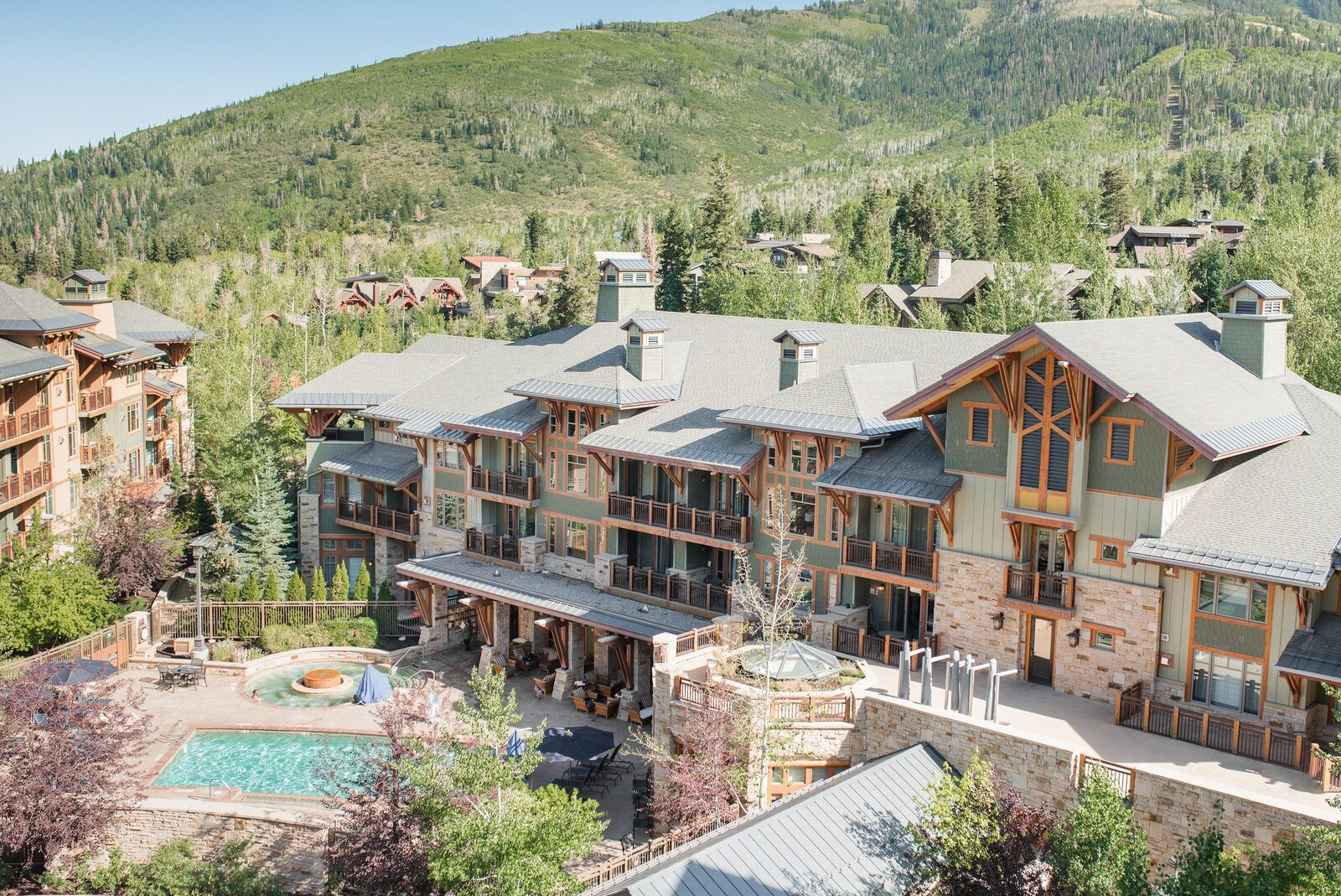 Photo of Hyatt Centric Park City showcasing the mountains, rooms, and pool