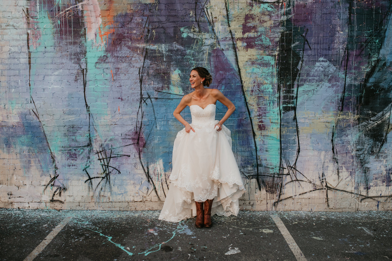 fun industrial boho wedding brake and clutch deep ellum dallas texas moth and moonlite photography