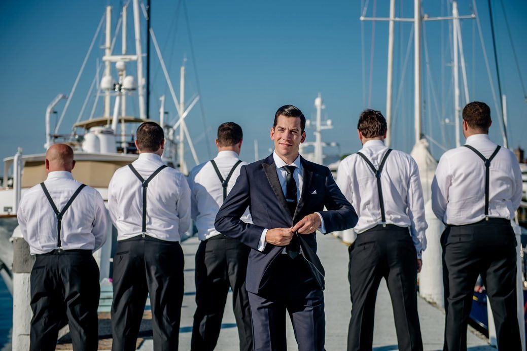 Groom & Groomsmen at Belle Mer in Newport, RI