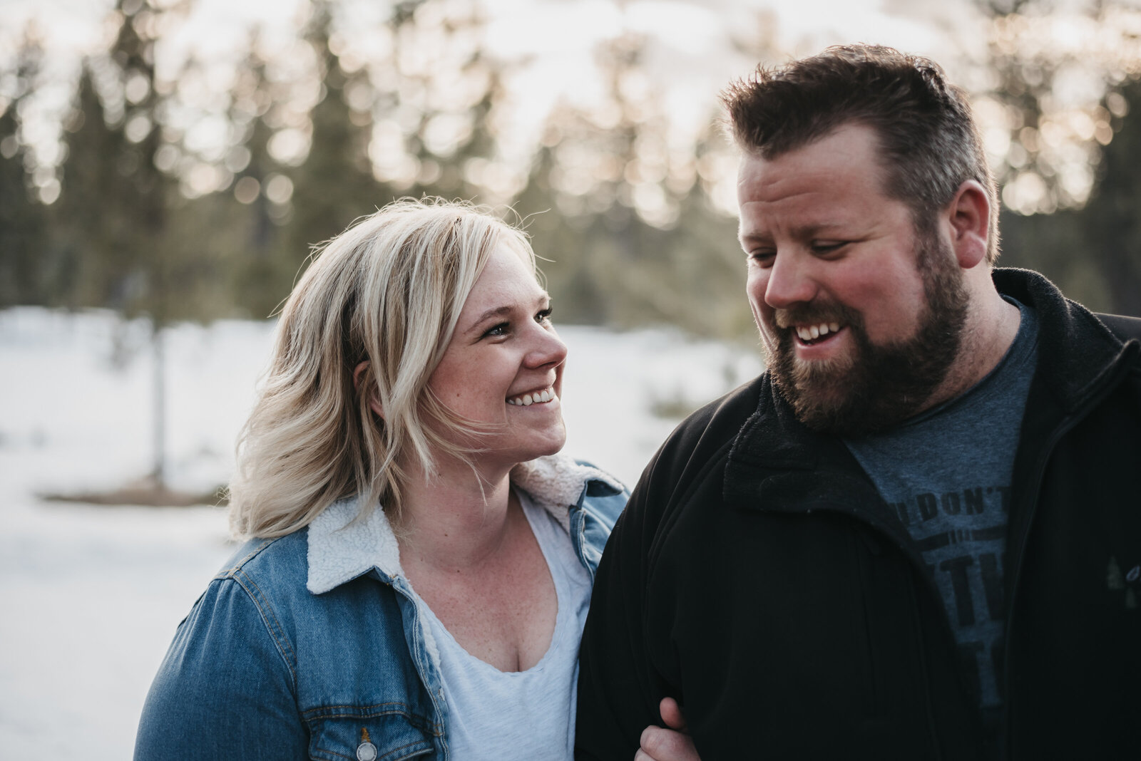 Engagement shoot at Martins Lake BC