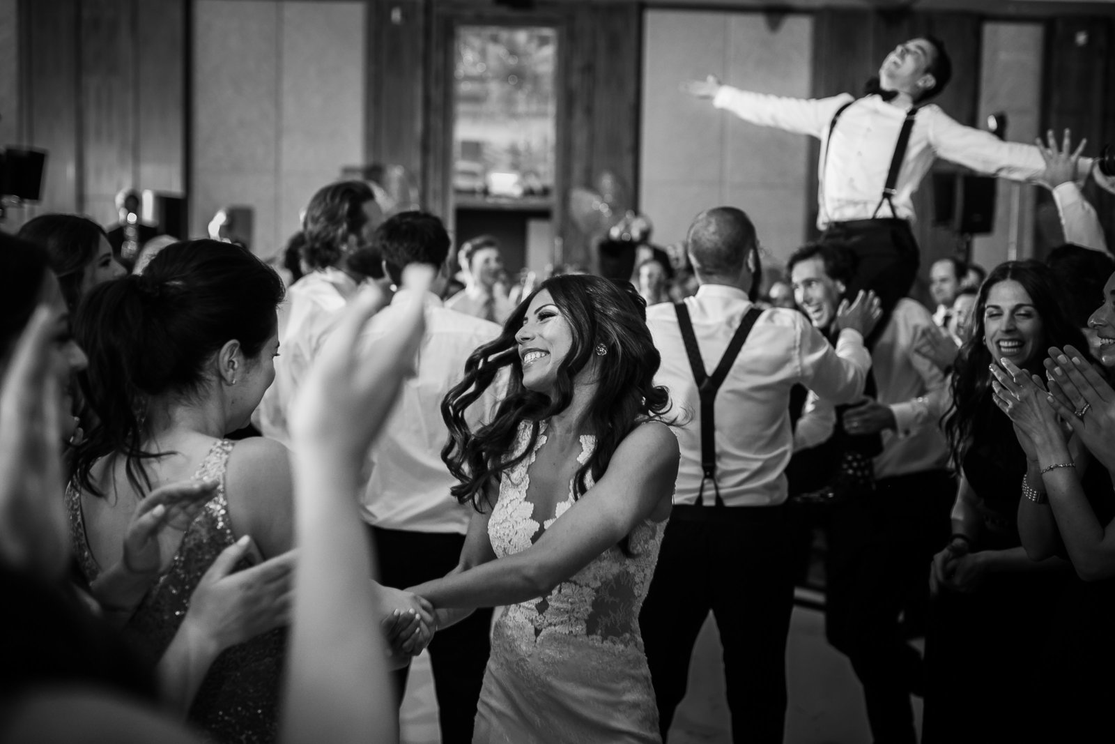 6 Dancing during reception at Ritz-Carlton wedding in downtown toronto by Photographers Luminous Weddings