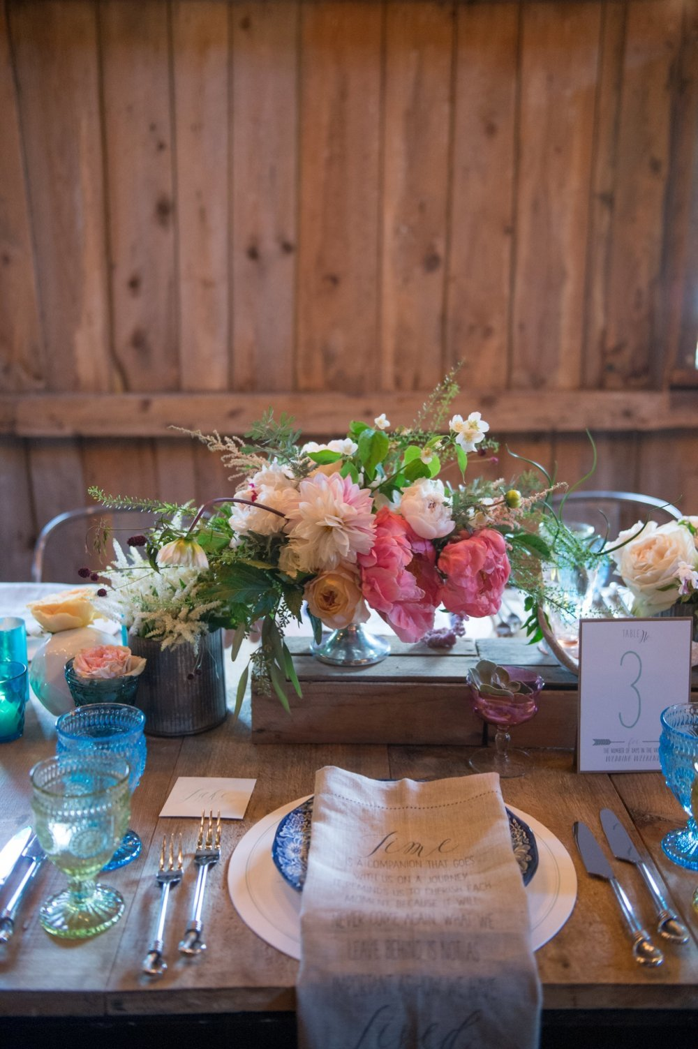 Rustic and colorful barn wedding at The Barn on Walnut Hill in Maine