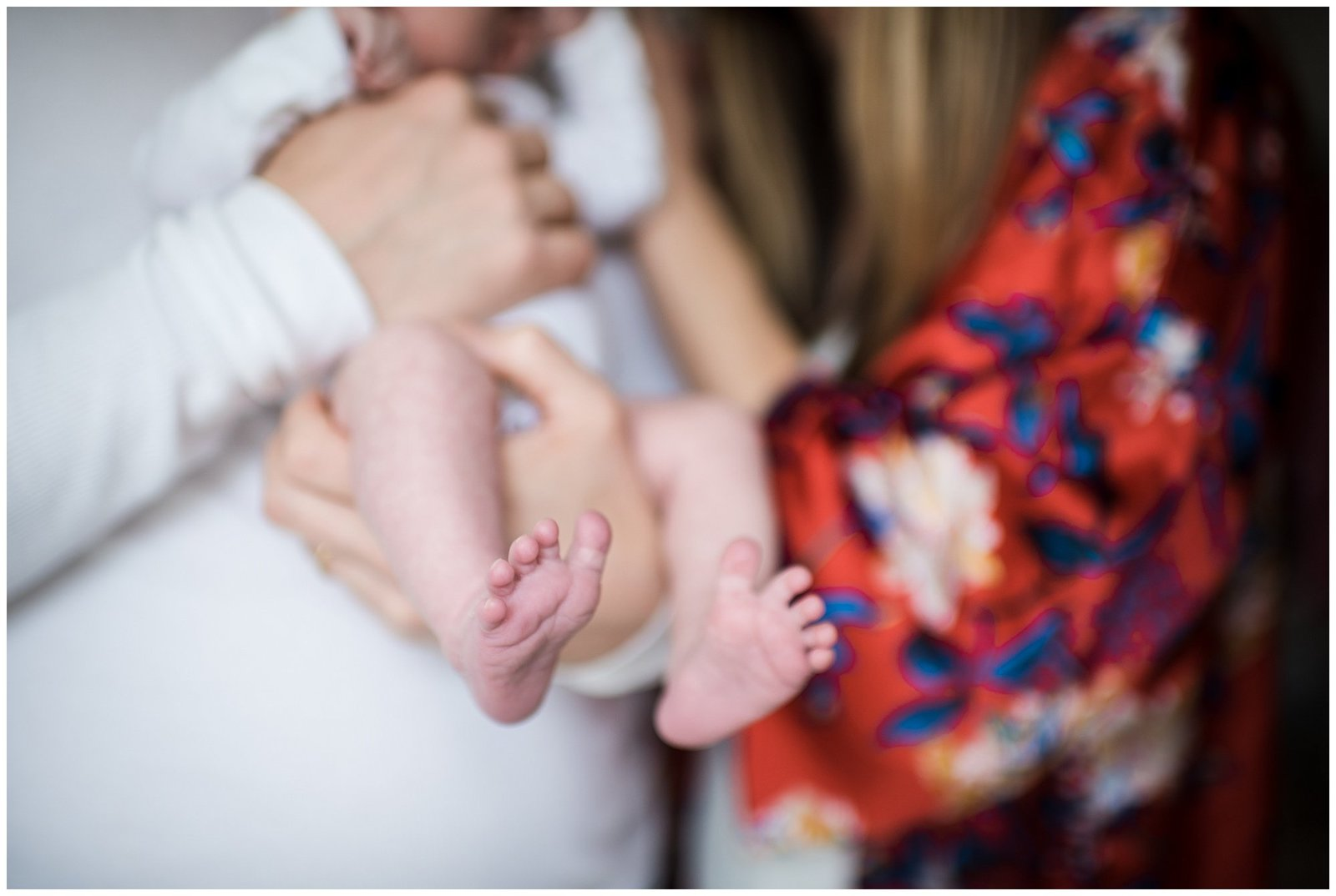 Baby toes close up in home lifestyle newborn session Emily Ann Photography Seattle Photographer
