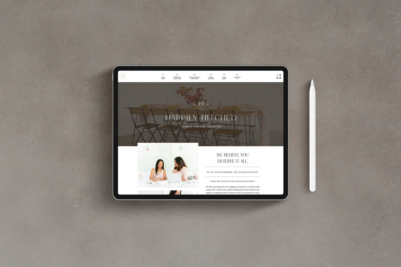 Happily Hitched - Custom Brand Logo and Showit Website Design by With Grace and Gold - 29
