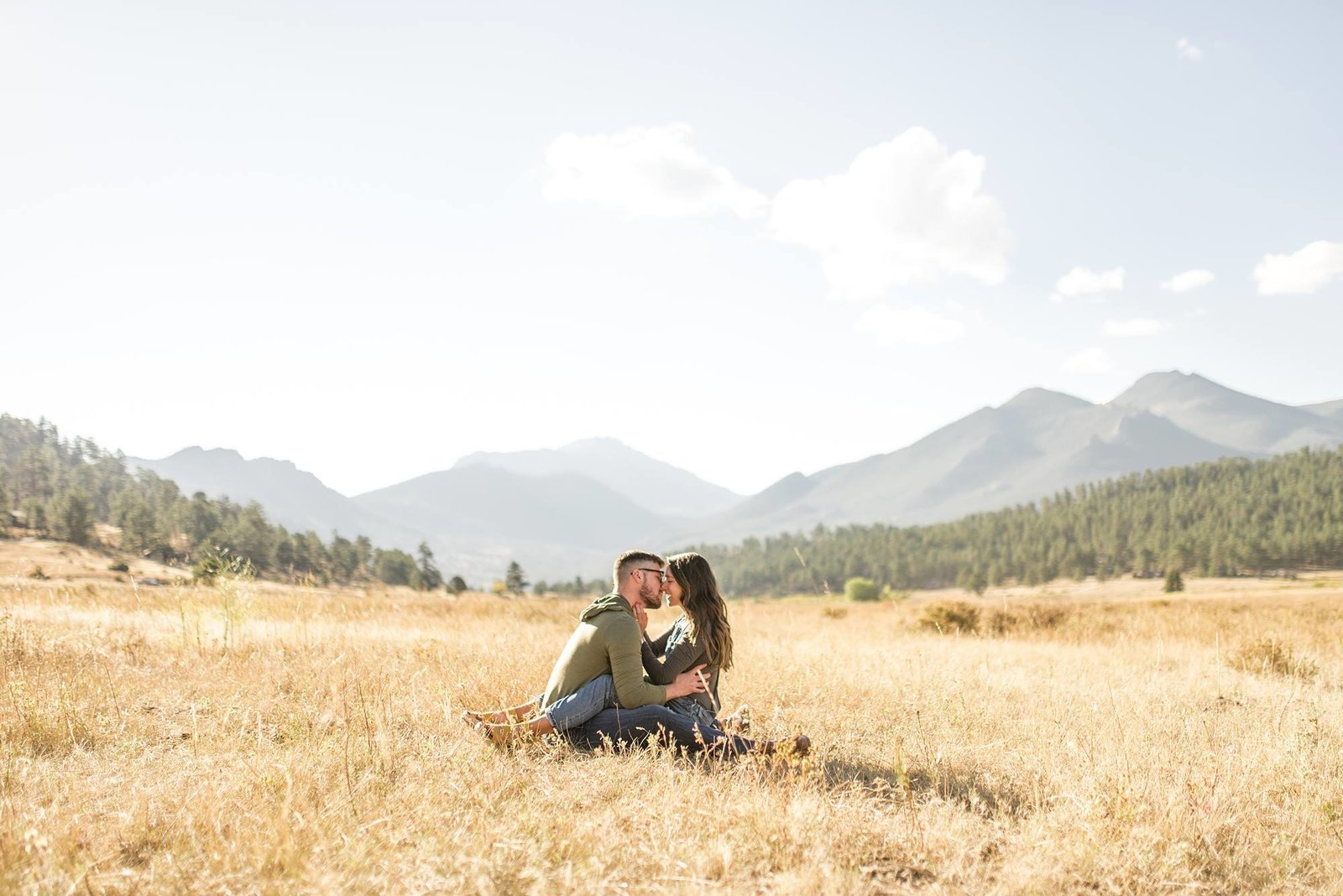 estes park engagement portraits