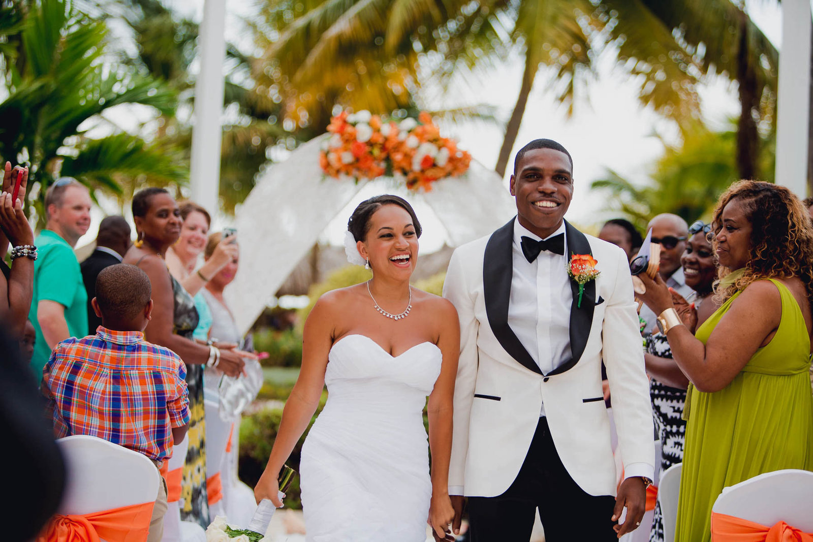 Bride and groom are announced, Jamaican Destination Wedding, Iberostar Rose Hall Suites, Montego Bay