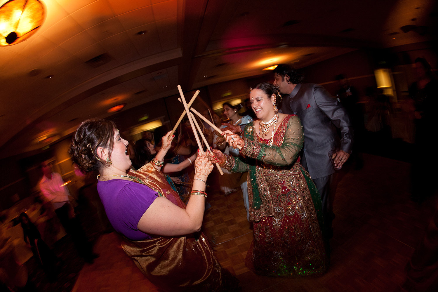 The Garba is a dance from Gujarat India performed at a Hindu wedding reception