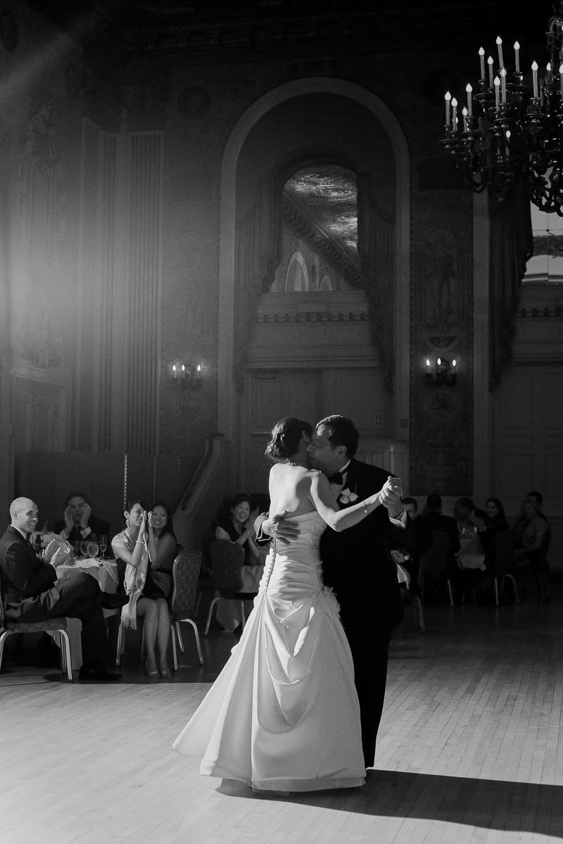 Bride and father dance together, Hotel DuPont, Wilmington, Delaware