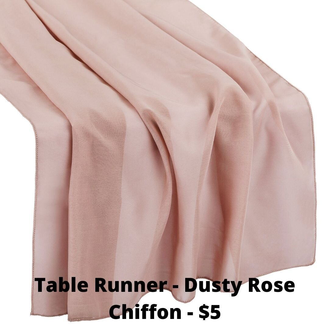 dusty rose chiffon