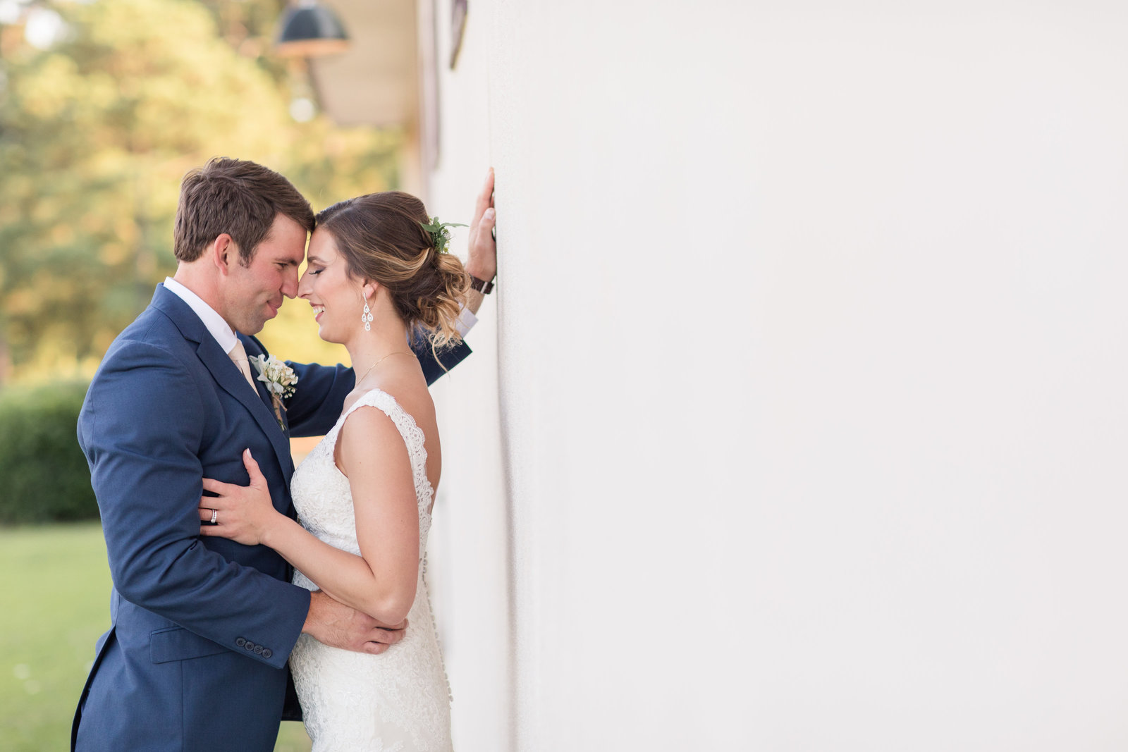 Beautiful wedding-First Look-Fair Barn Wedding, Pinehurst NC