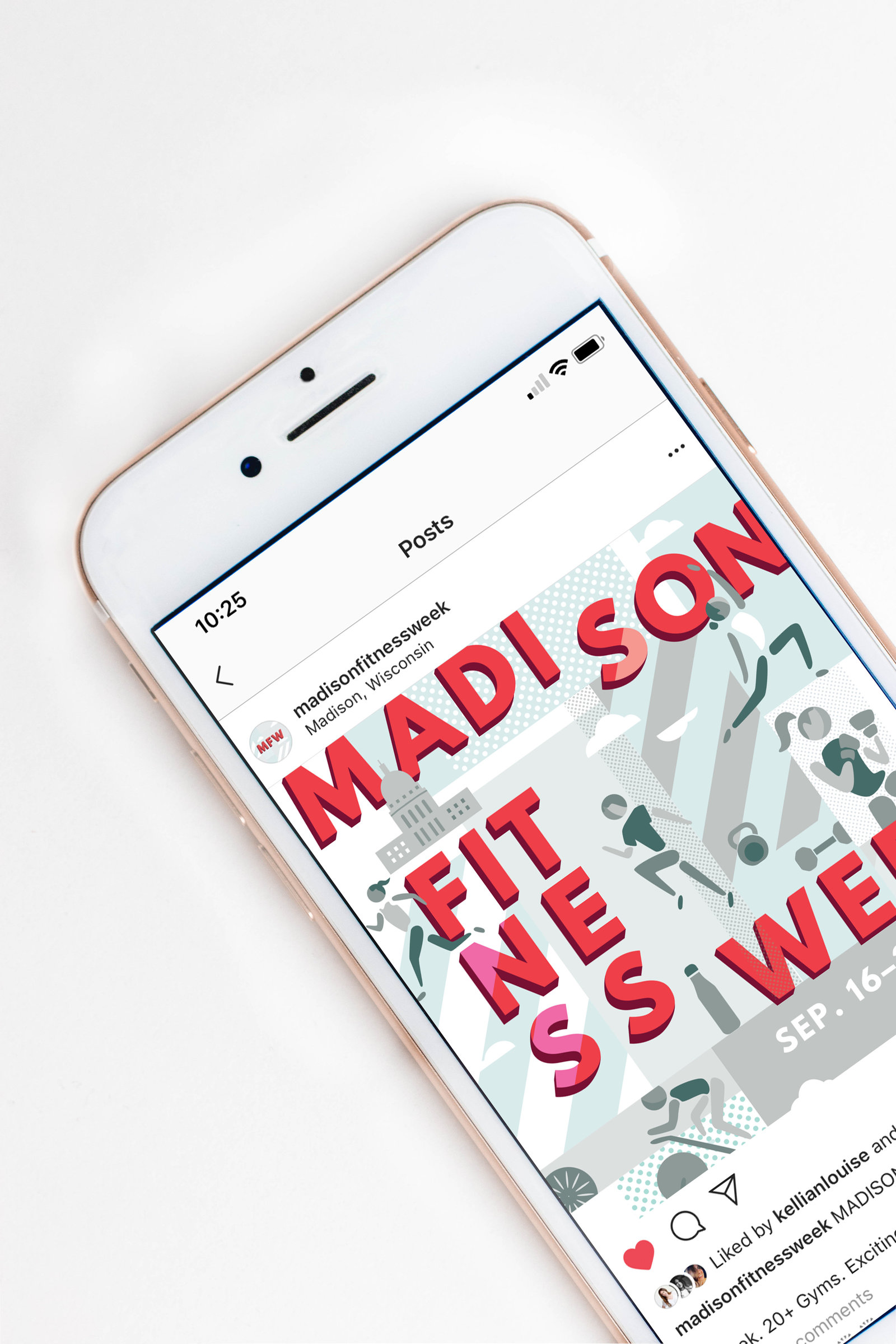 Instagram design  for Madison Fitness Week by Christie Evenson, graphic designer and illustrator