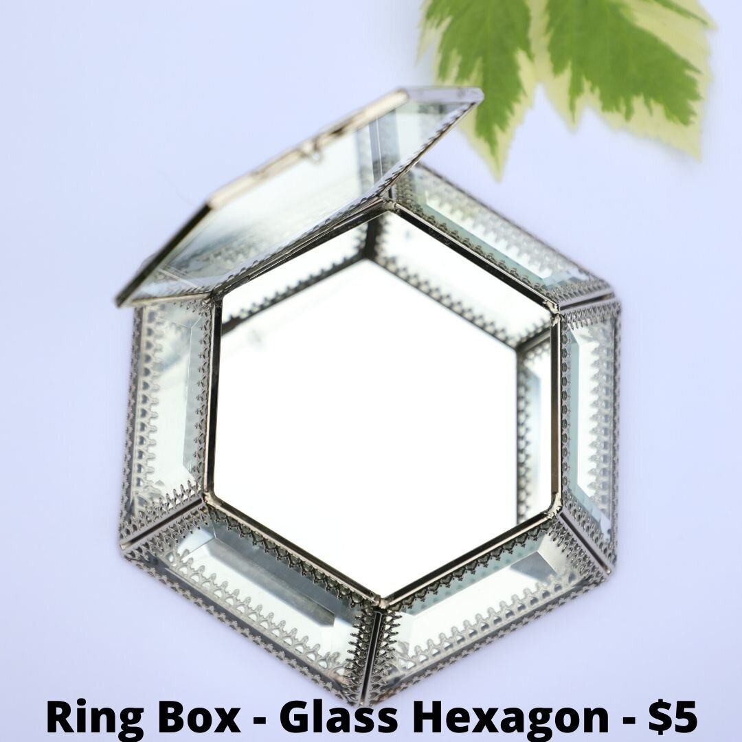 glass hexagon