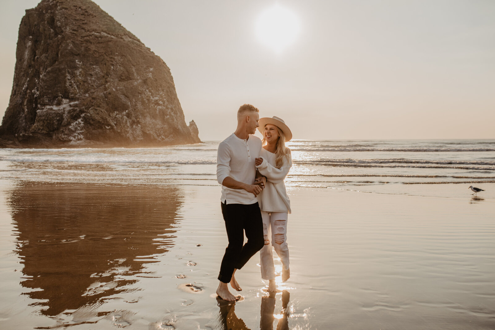 canon beach engagement