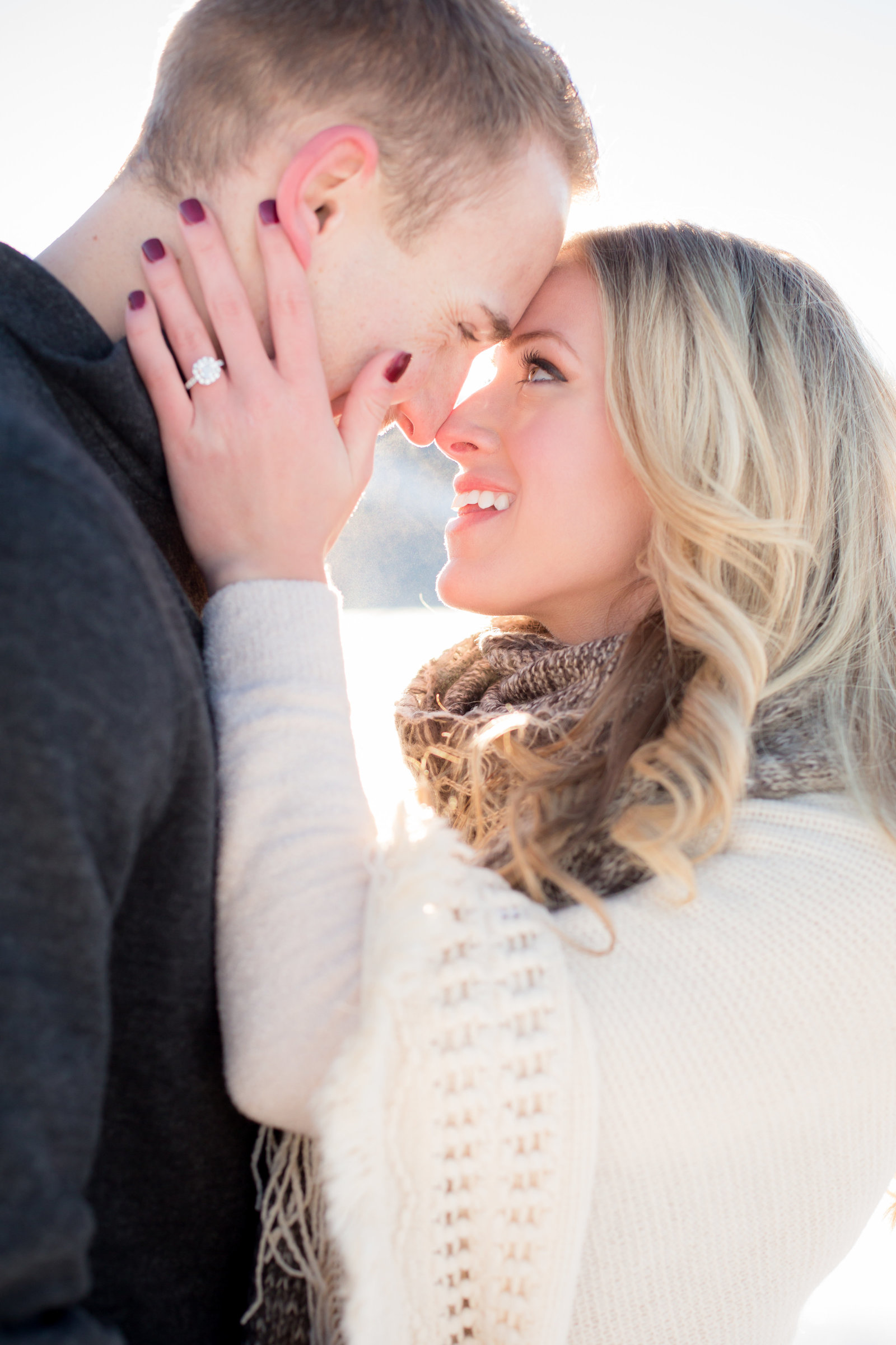 Jackson Hole WY winter engagement session