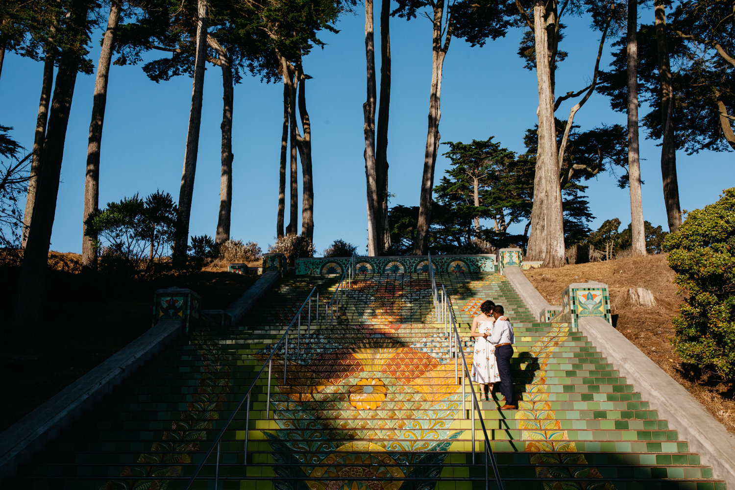 candid engagement photo in san francisco california