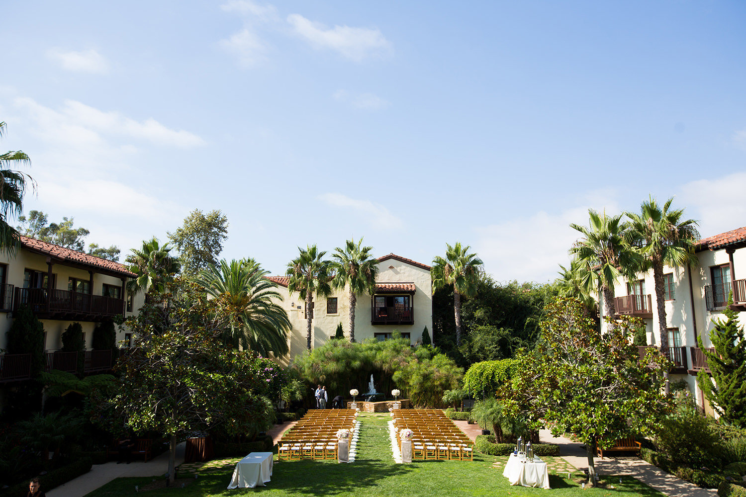 Beautiful ceremony grounds at Estancia La Jolla