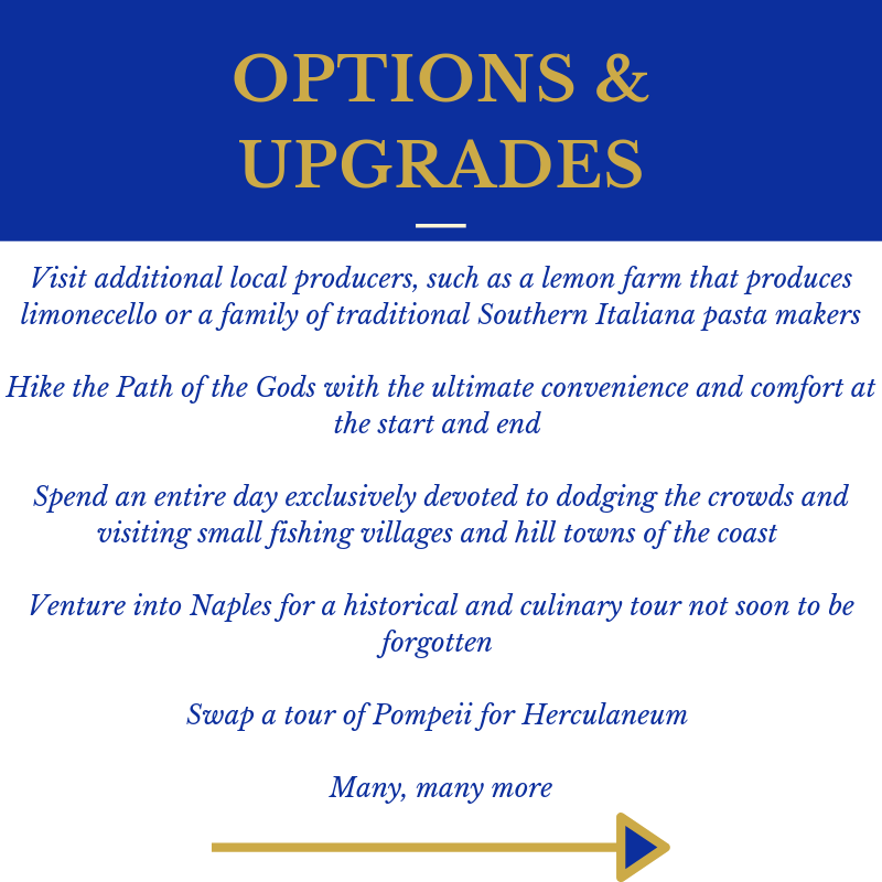 Amazing Amalfi P6 Options Upgrades