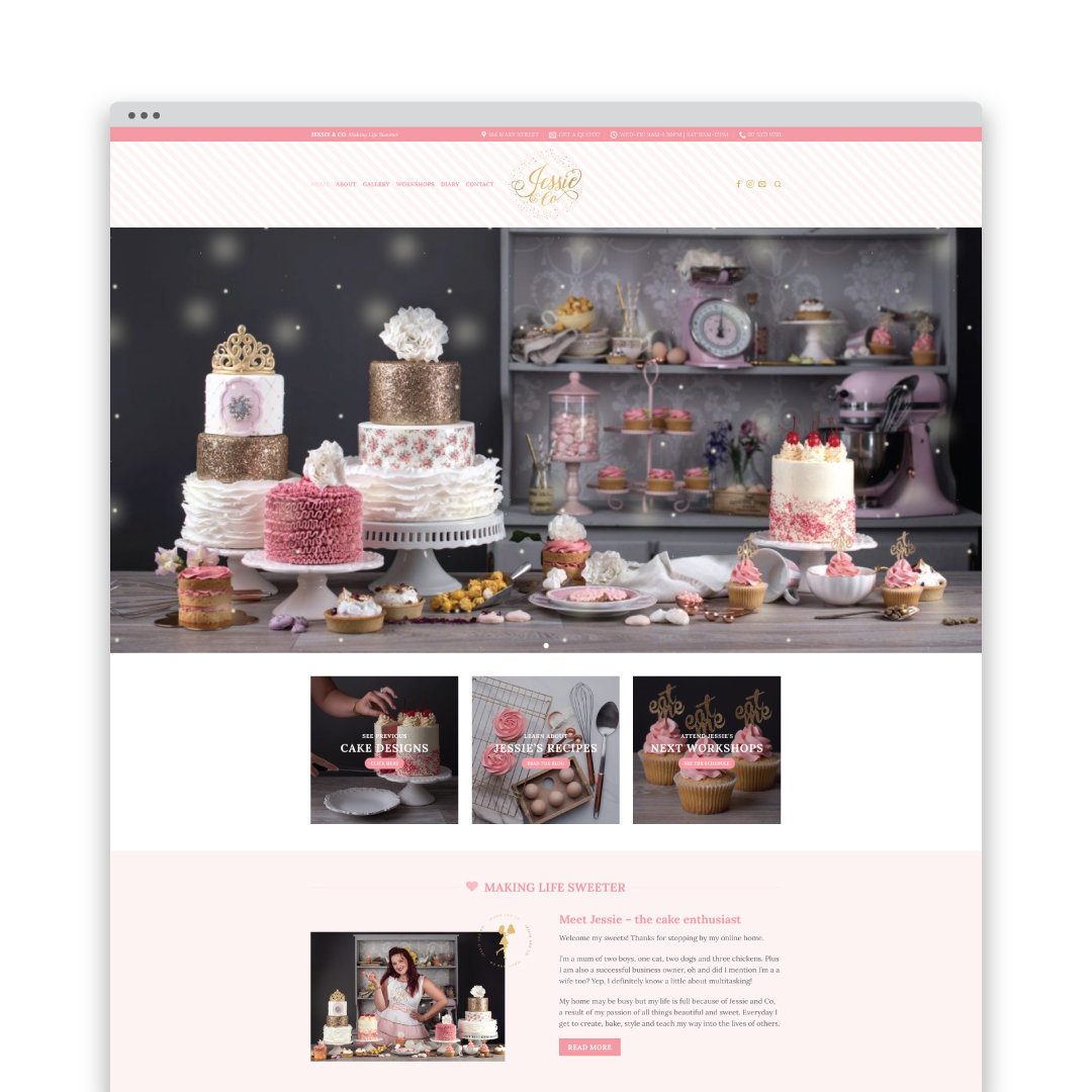 website design for cake maker