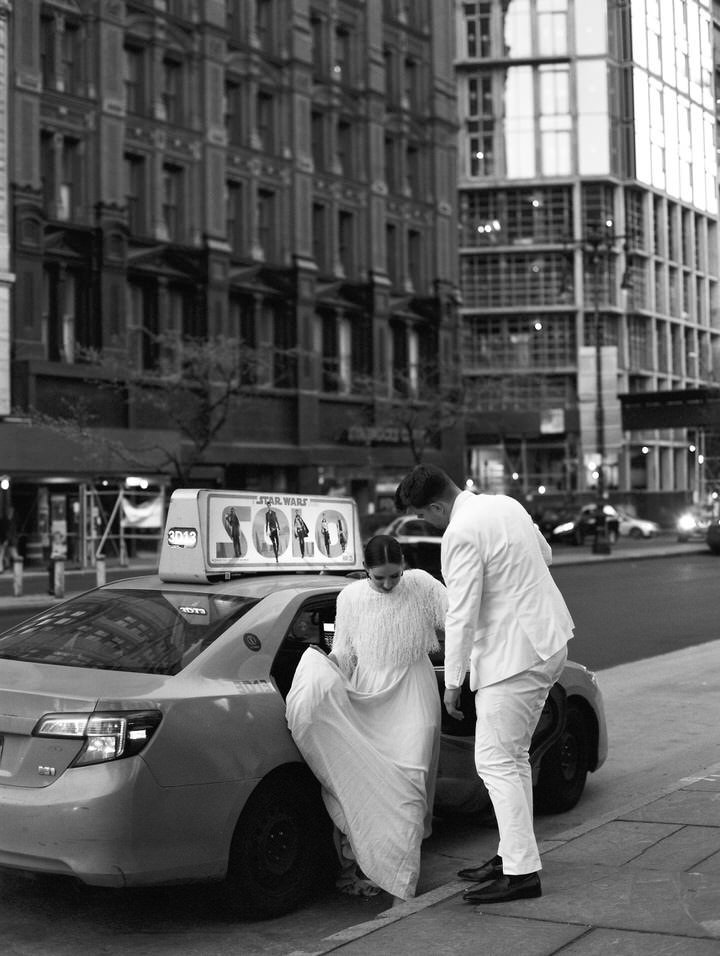 black and white nyc wedding portraits