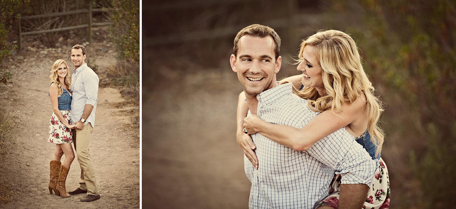 Sunset Cliffs engagement photos rustic and vintage
