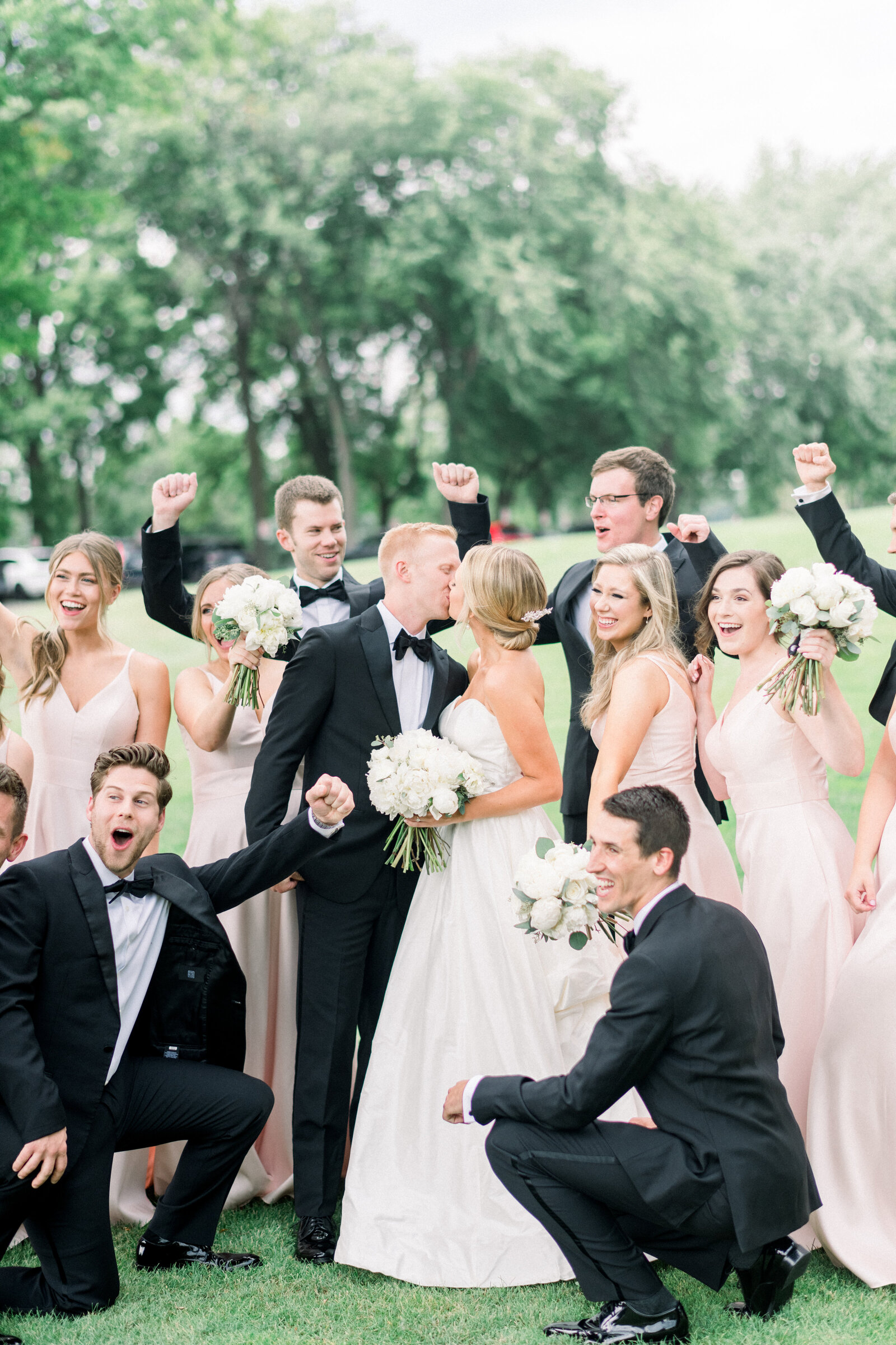 Bridal party photo by Minnesota wedding photographer