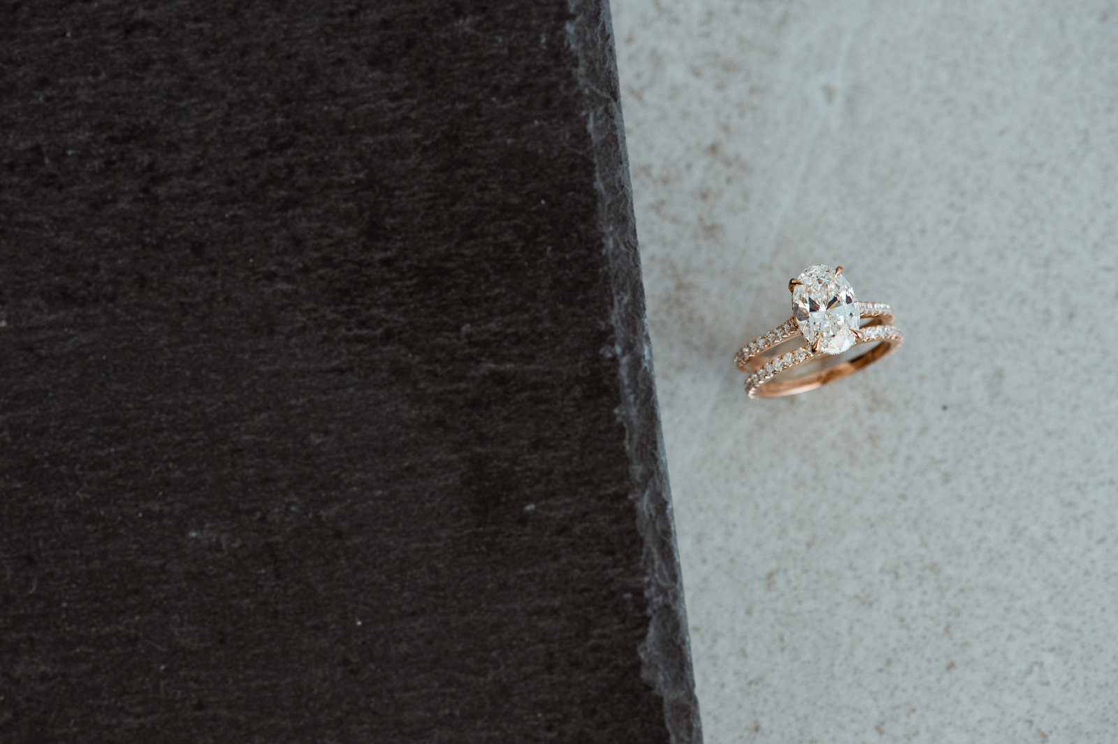 oval diamond, oval diamond engagement ring, custom engagement ring, bespoke engagement ring, rose gold engagement ring, custom jewelry, rose gold wedding band, oval solitaire, custom diamond jewelry, 2 carat oval