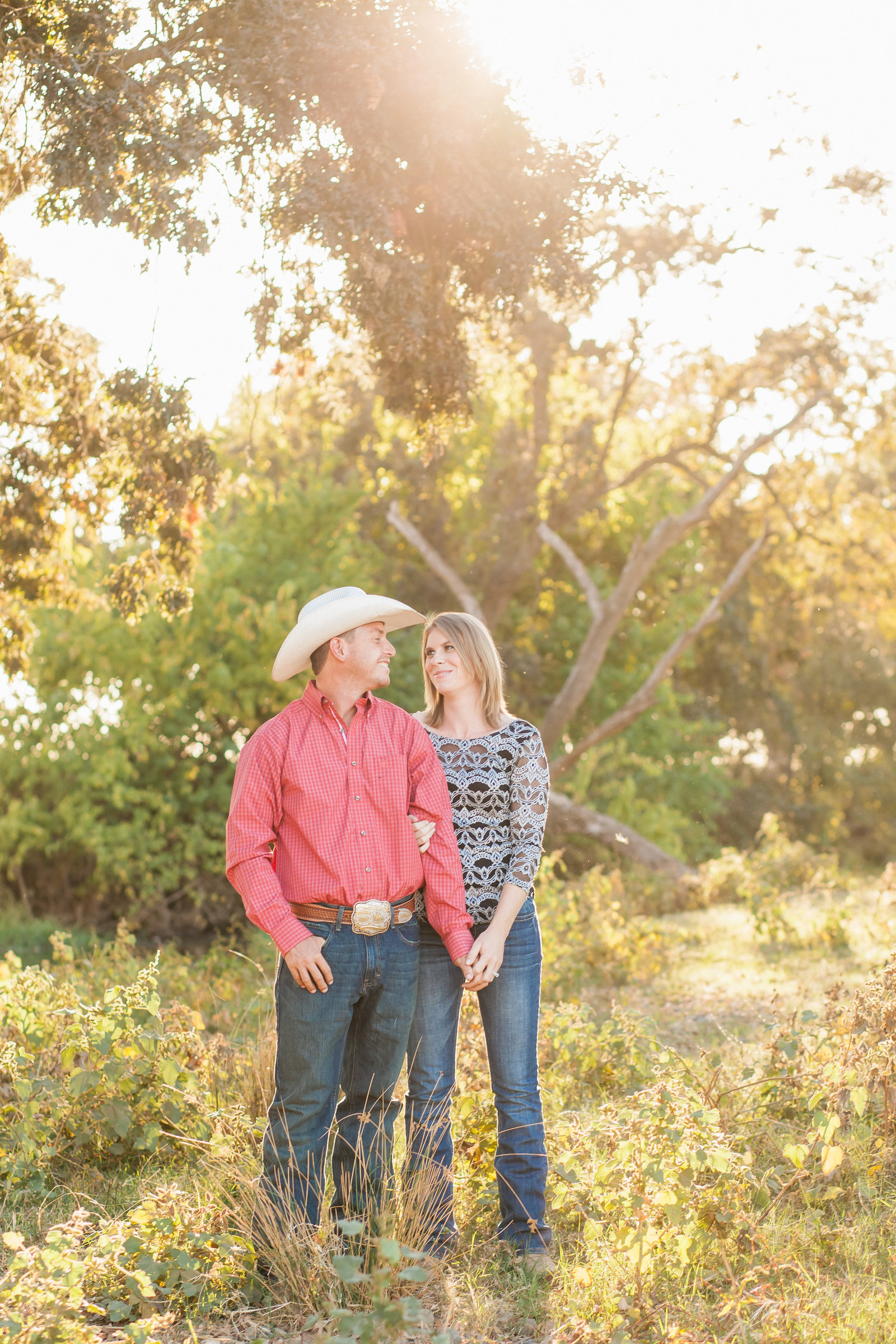 Lincoln engagement couple at sunset on family farm