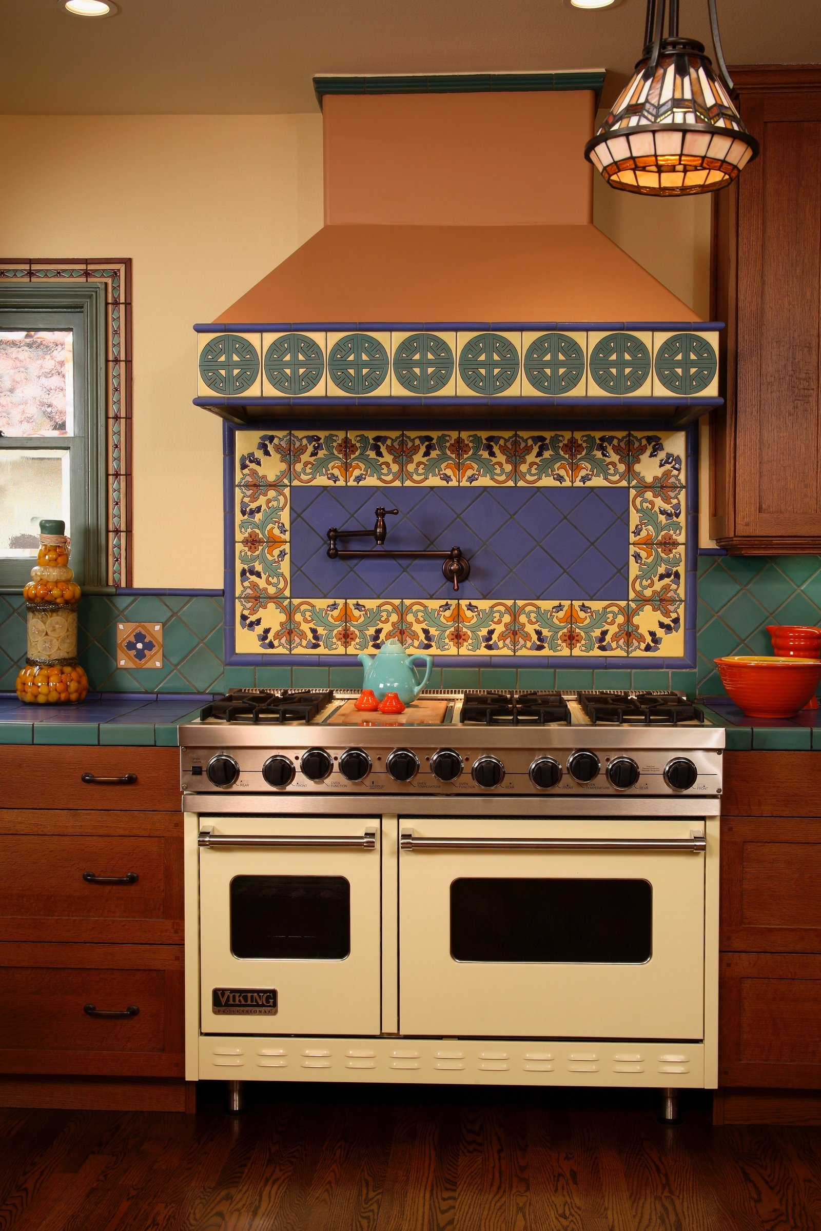 Santa Fe Colorful Kitchen Range