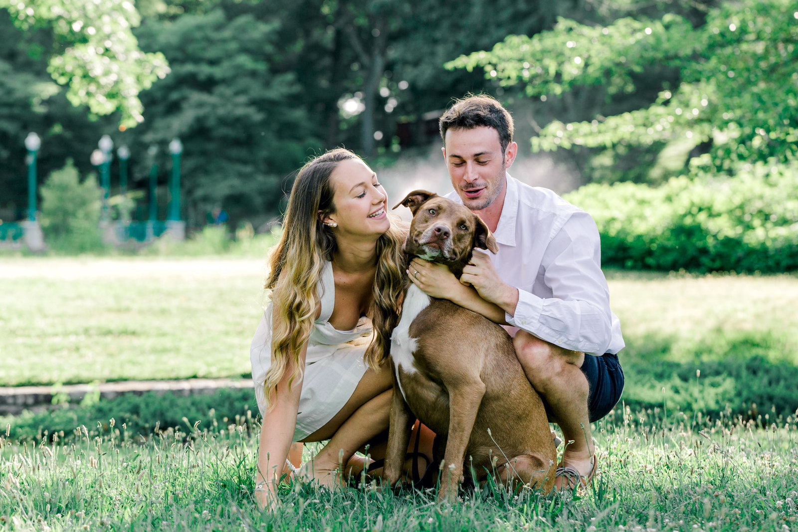 riger williams park engagement photos with dog
