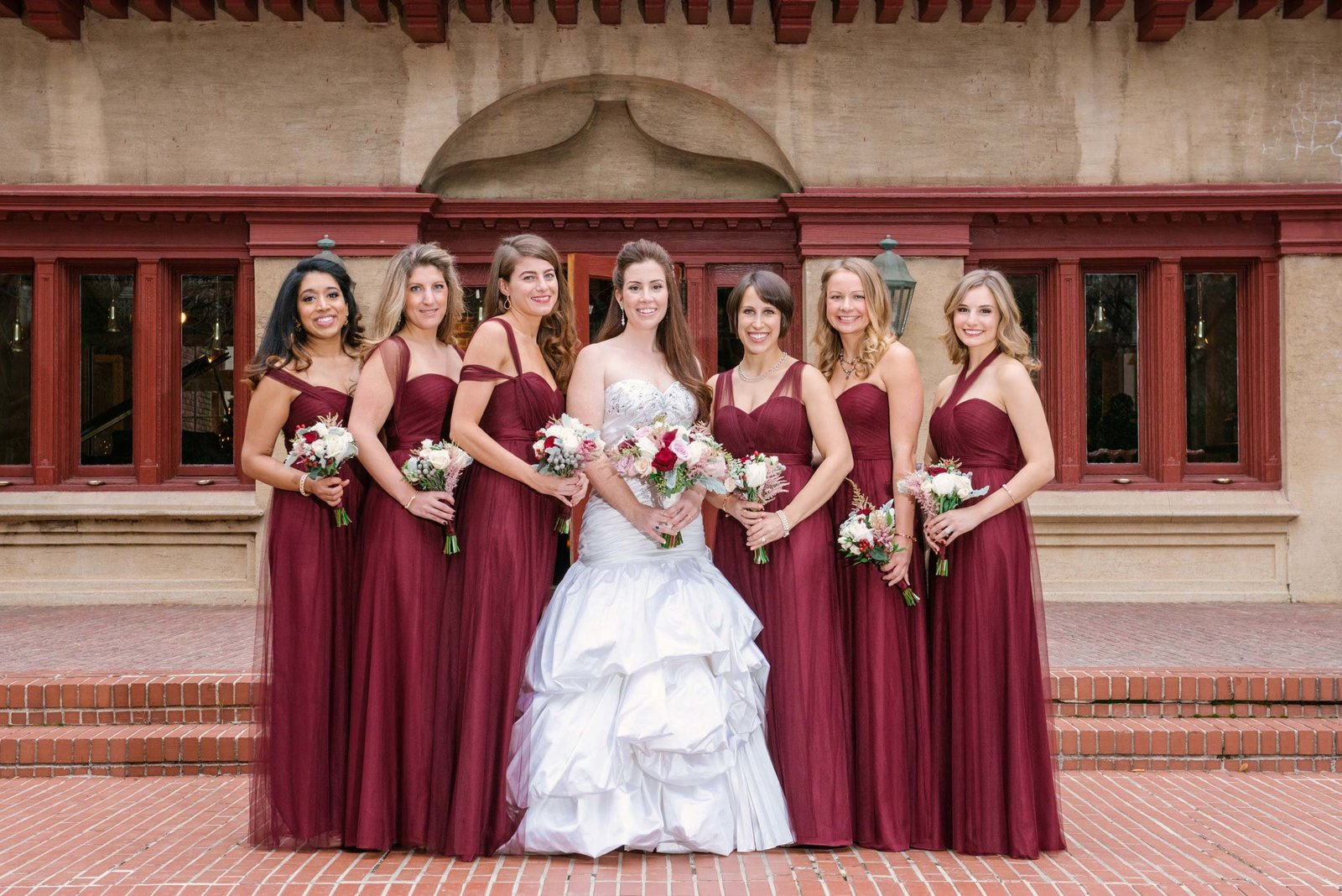 Bride and her bridesmaids at Coindre Hall