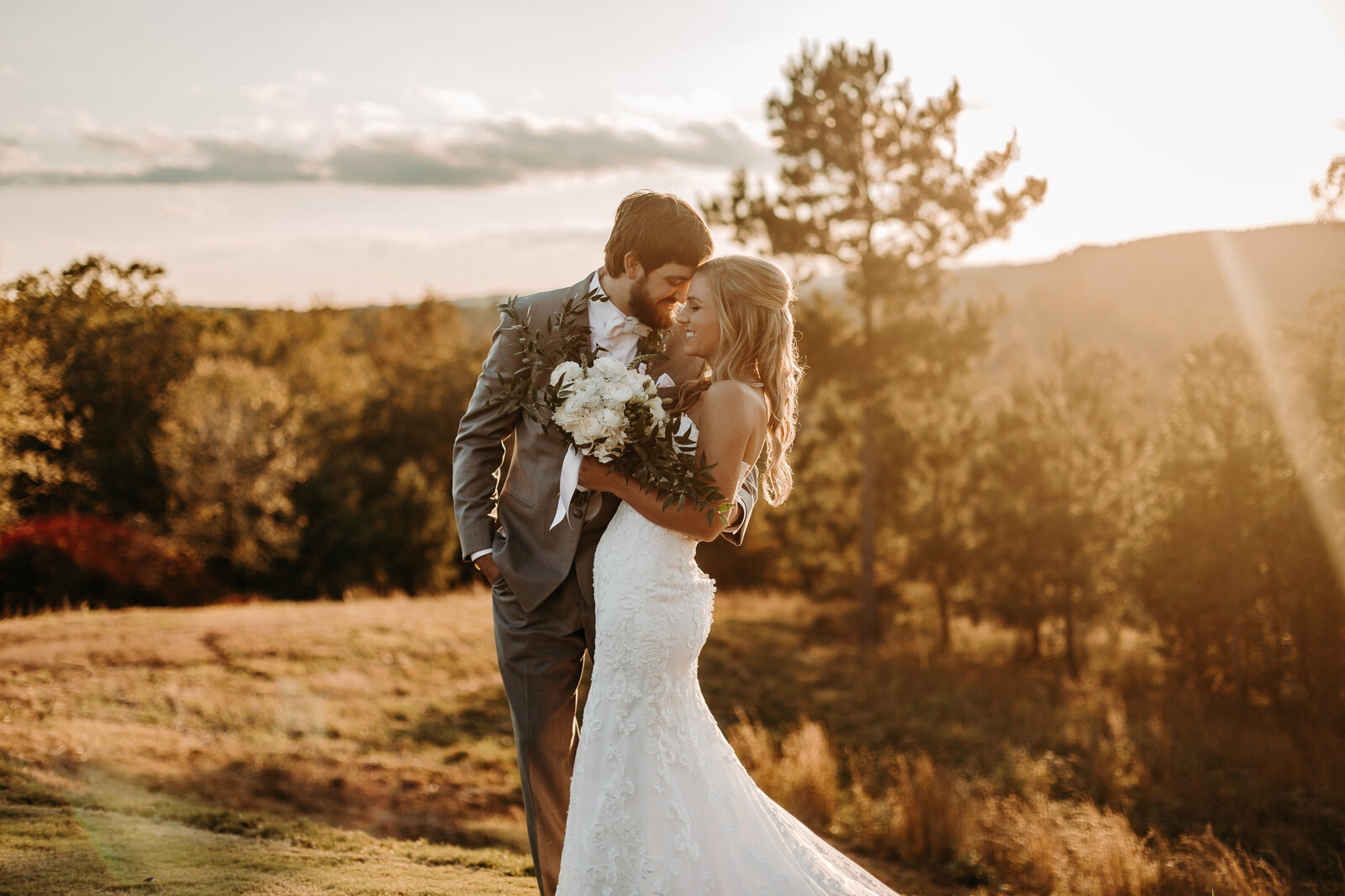 Bride and groom portraits in north Georgia mountains