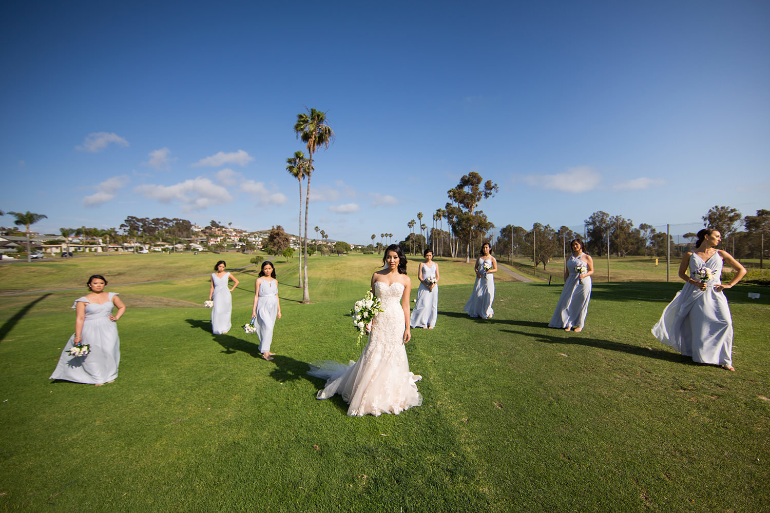 bridal party at wedgewood