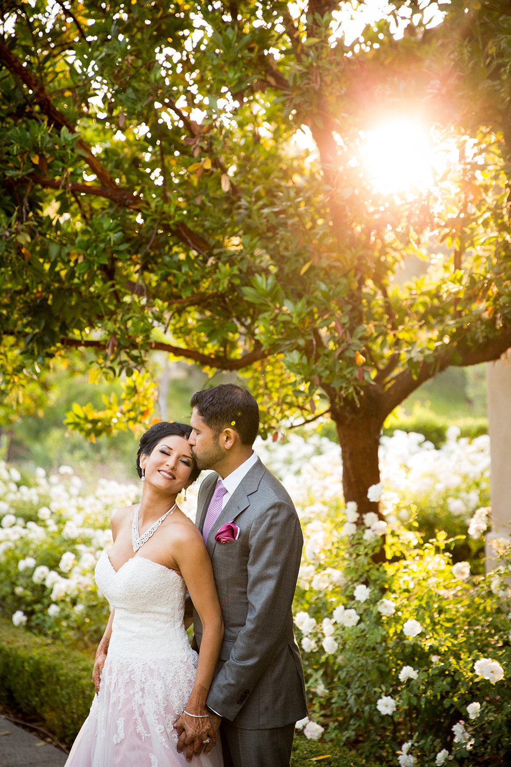Breathtaking Sunset Wedding Portrait of Indian Couple at Rancho Bernardo Inn
