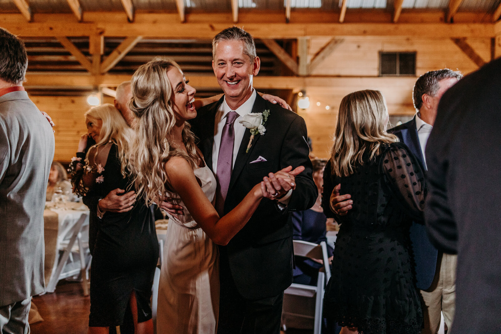 J.Michelle Photography photographs guests dance during a vintage oaks farm wedding in Athens, Ga